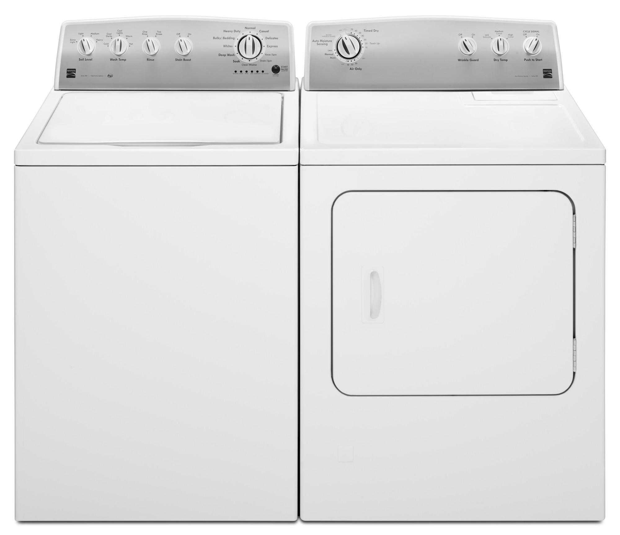 agitator topload washer u0026 70 cu ftgas or electric dryer white