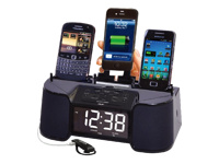 DOK Alarm Clock w/ 4-Port Charger CR32