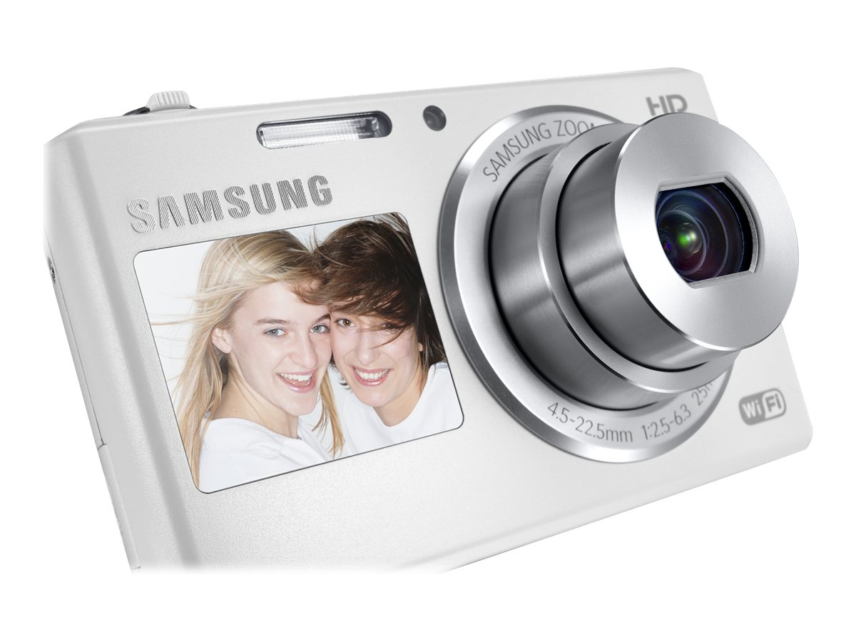 Samsung 16.2MP DV150F Dual-View SMART Camera Wi-Fi - White