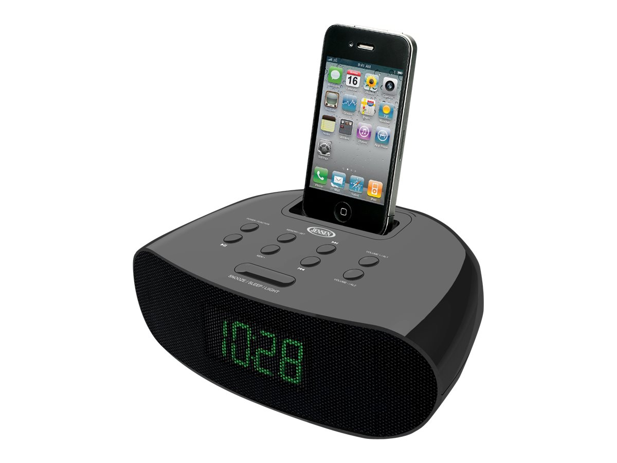 Jensen iPod/iPhone Docking Clock Radio with Dual Alarm