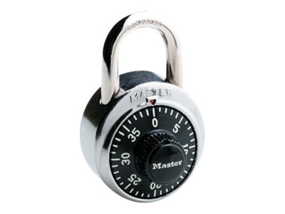 Master Lock 1-7/8 in. Black Dial Combination Lock