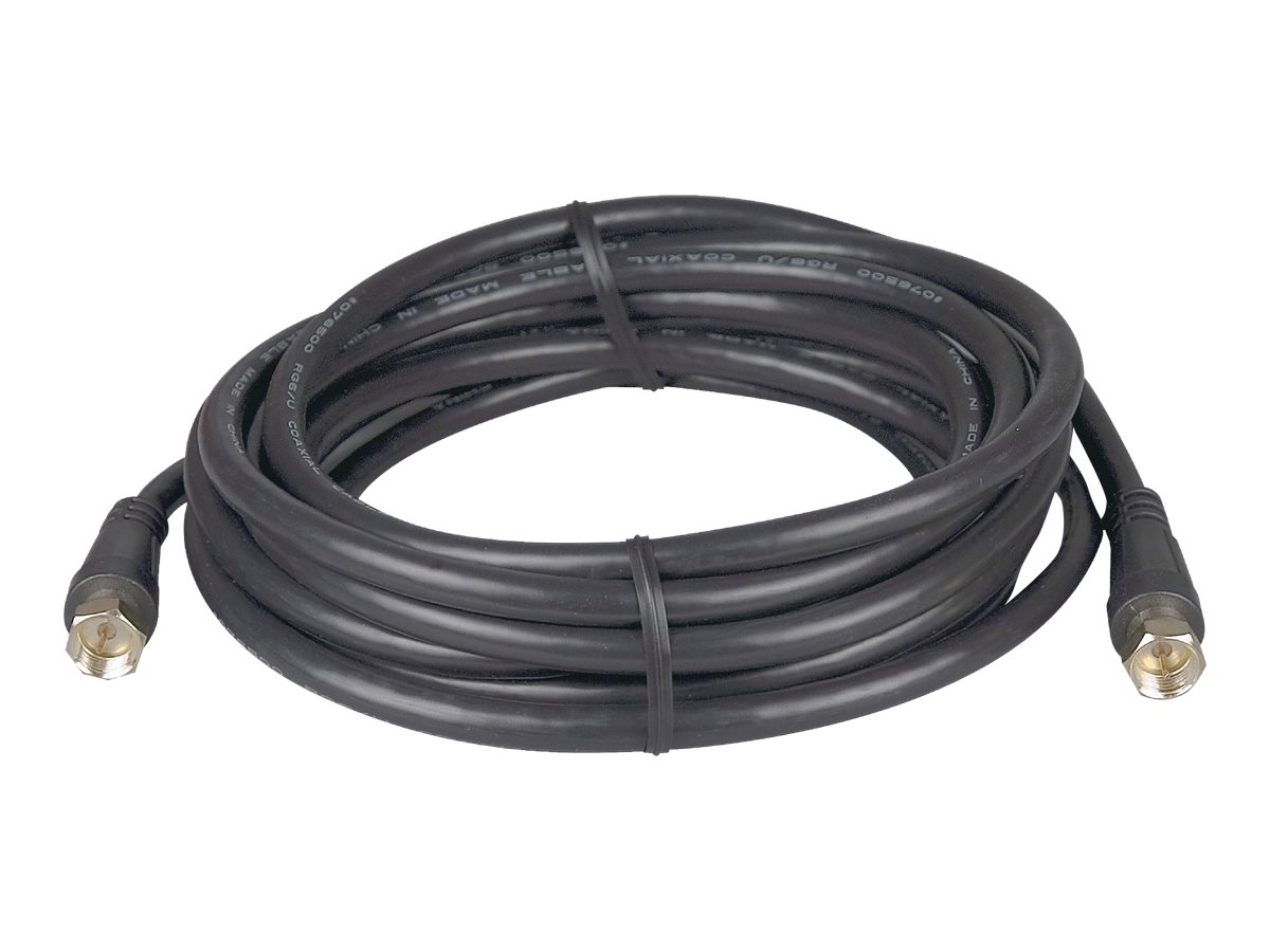 Philips 12 ft. Coaxial Cable, F-Type, Black