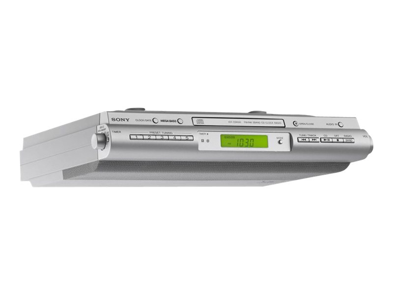 Sony Under Cabinet AM/FM CD Clock Radio