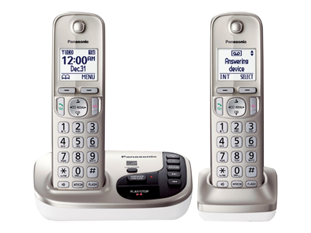 Panasonic Expandable Digital Cordless Answering System w/ 2 Handsets - KX-TGD222N