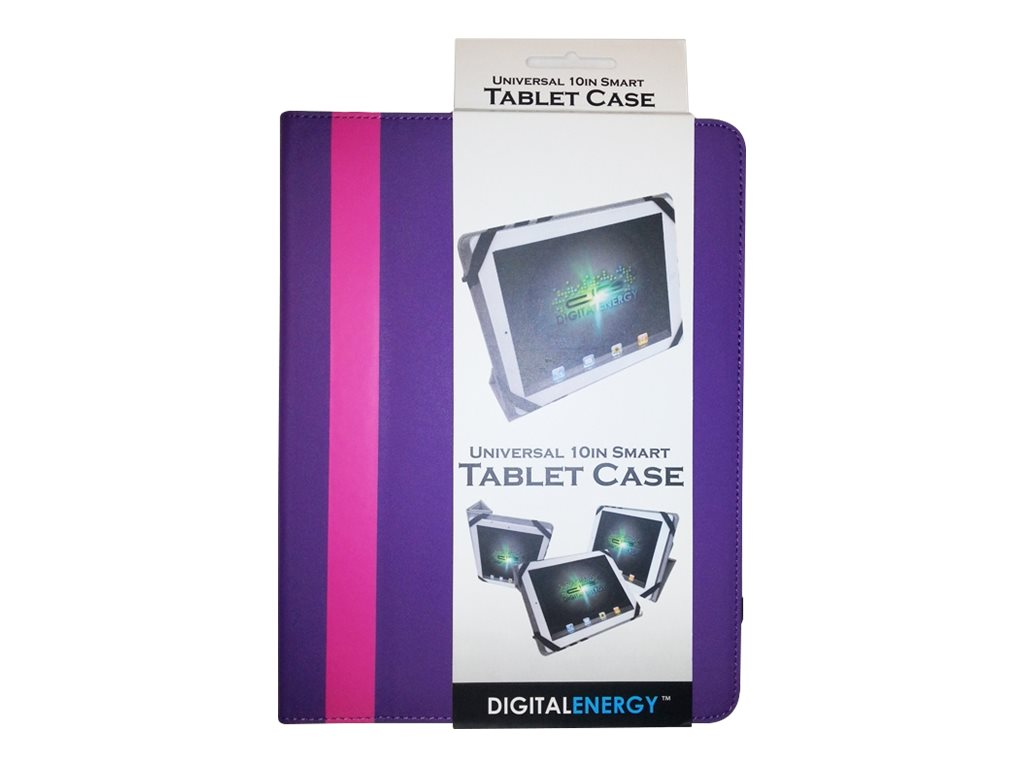"Digital Energy 10"" Universal Tablet Cover - Pink/Purple"