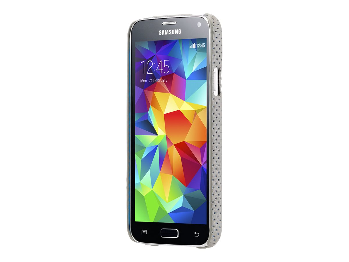 Agent 18 SlimShield Case for Galaxy 5 - Perforated Leather Gray/Black