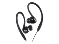 JVC Inner Ear Black Sports Clip Headphones HAEBX5B