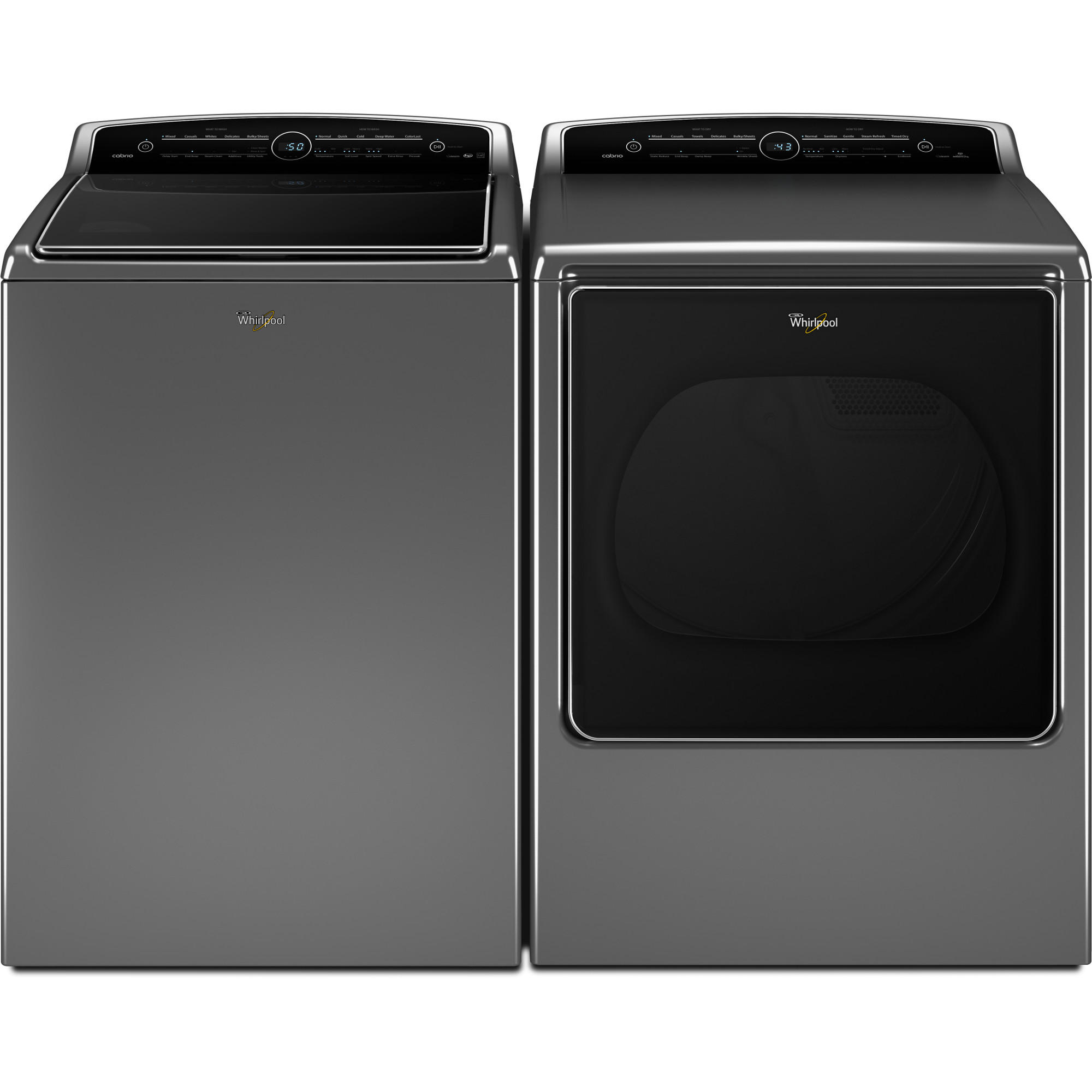 5.3 cu. ft. Cabrio® Washer & 8.8 cu. ft. Dryer - Chrome Shadow