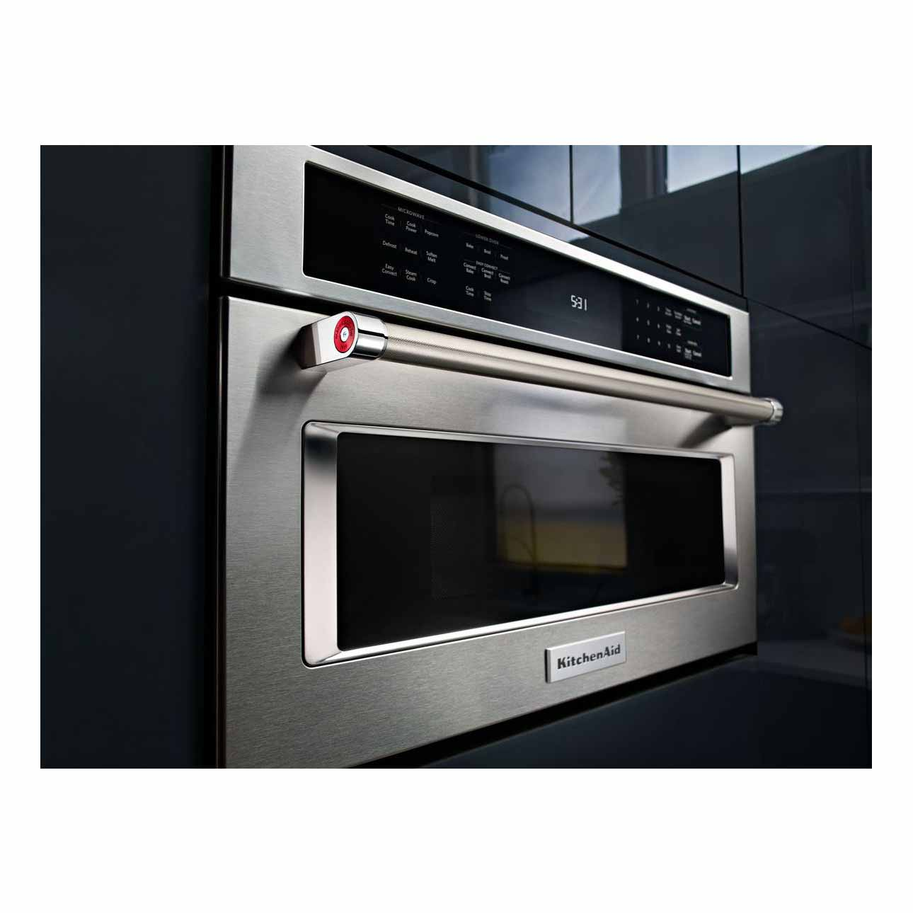 "KitchenAid KMBP107ESS 27"" Built-In Microwave Oven w/ Convection Cooking - Stainless Steel"