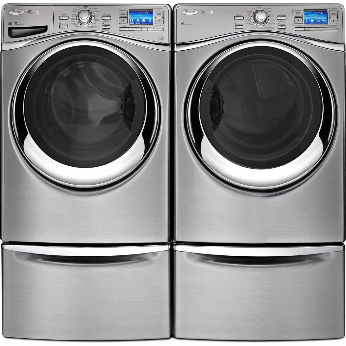 Whirlpool WEL98HEBU 7.4 cu. ft. Smart Electric Dryer w/ 6th Sense Live™ Technology - Diamond Steel