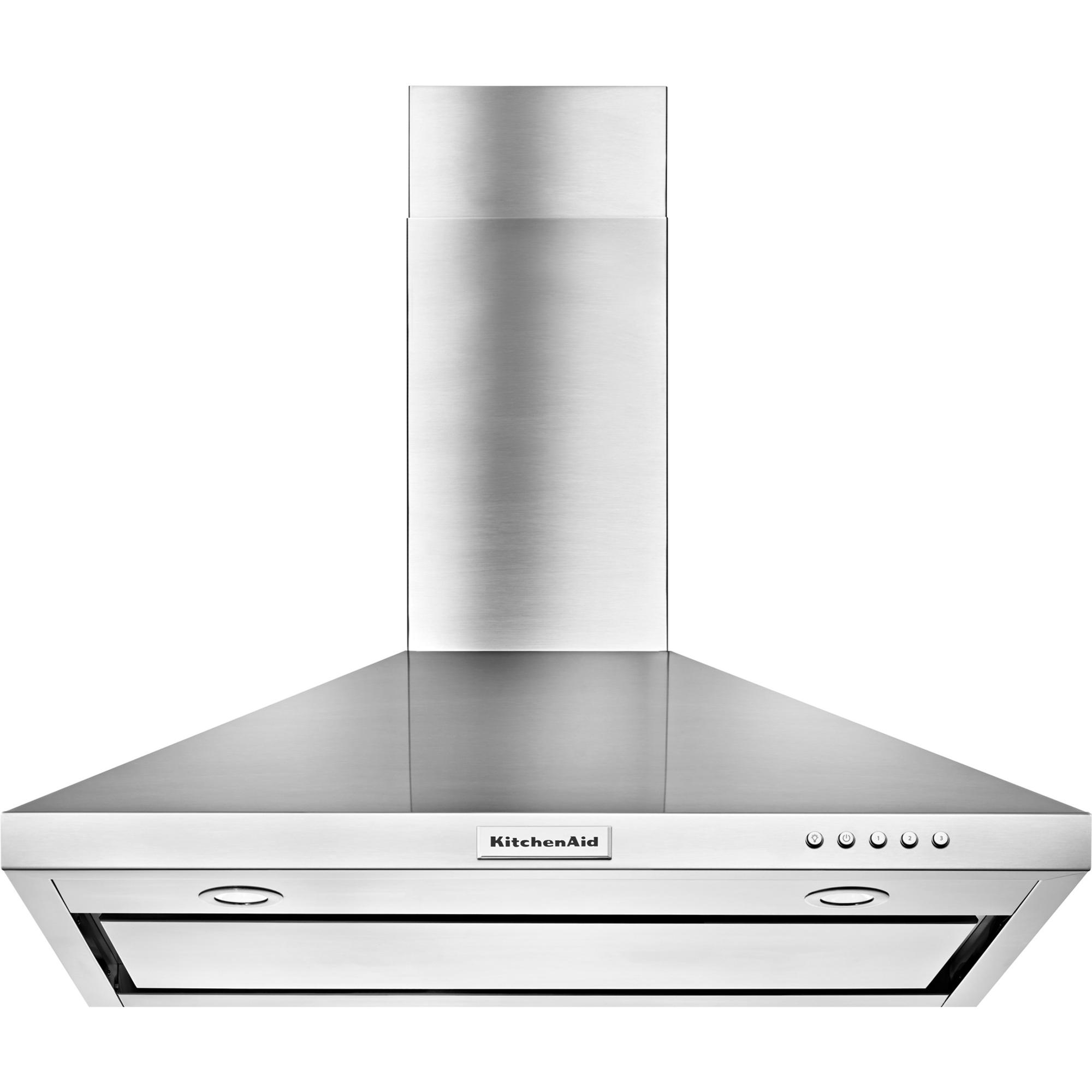 KitchenAid KVWB406DSS 36 Wall-Mount Canopy Range Hood w/ 3 Speeds - Stainless Steel