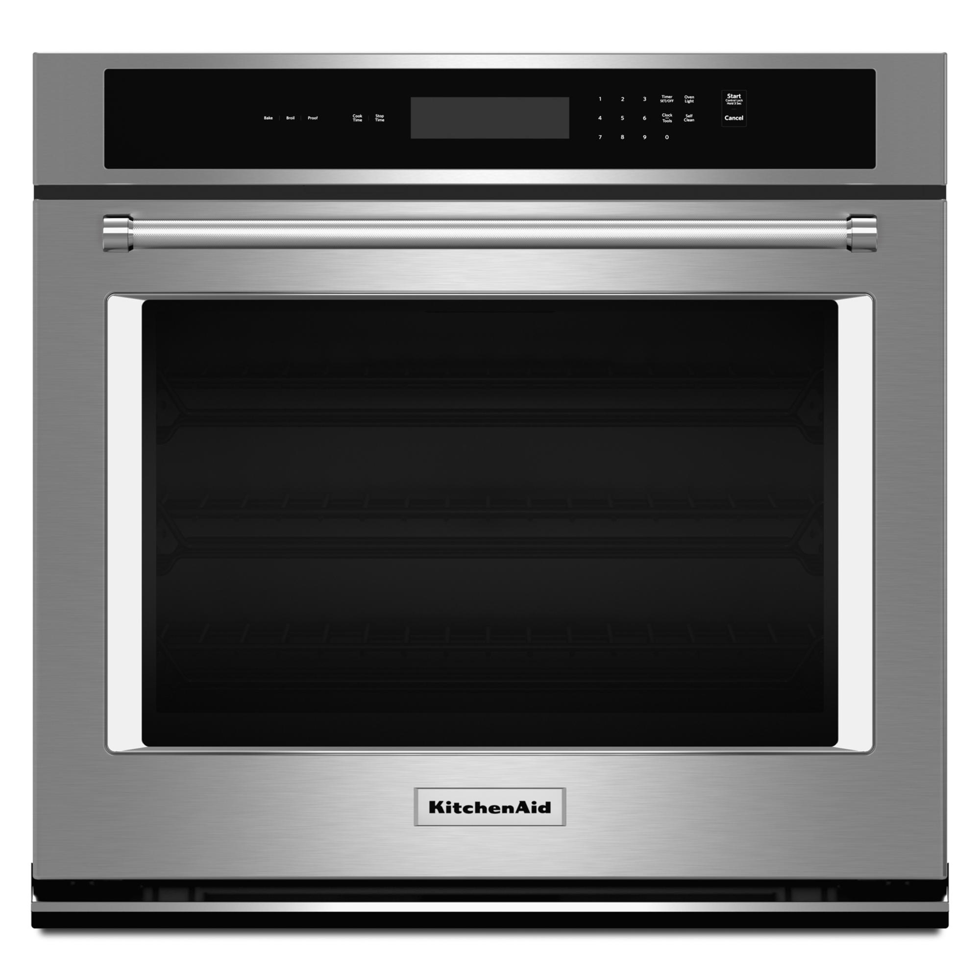 KitchenAid KOST107ESS 4.3 cu. ft. Single Wall Oven with Even-Heat™ Thermal Bake/Broil - Stainless Steel