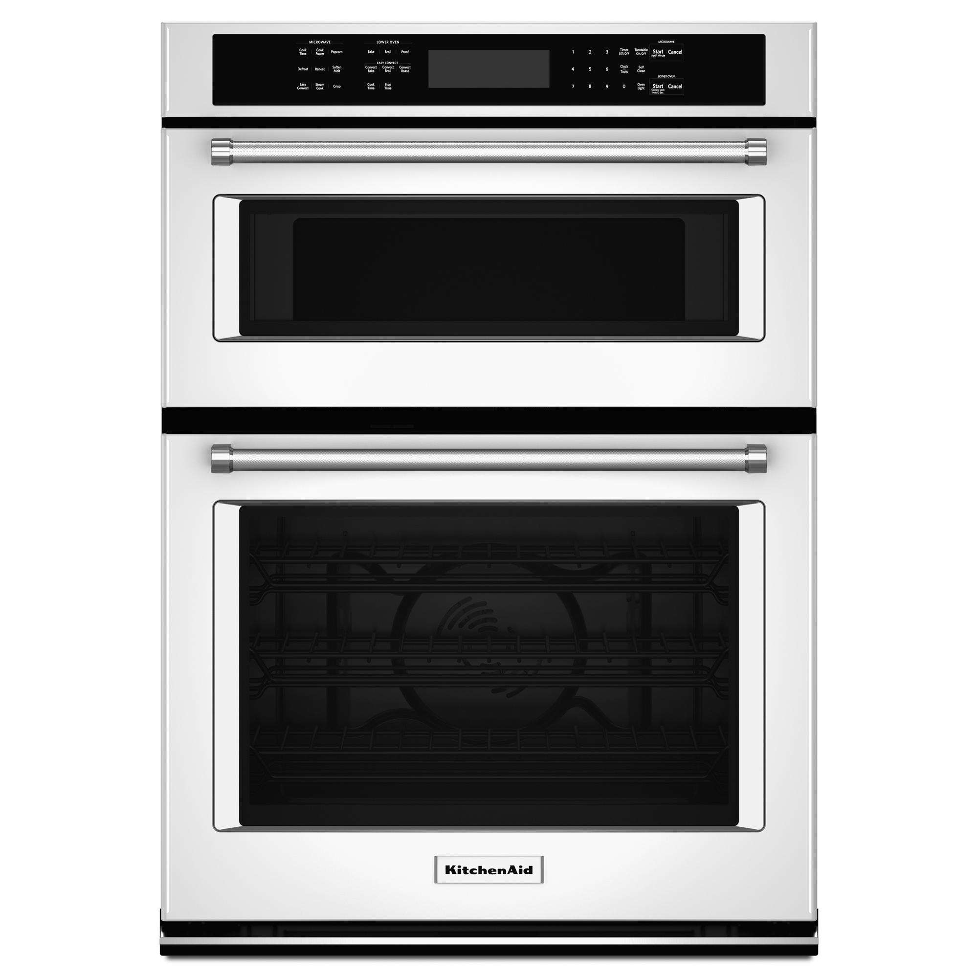 KitchenAid KOCE507EWH 27 Double Wall Oven w/Even-Heat™ True Convection - White