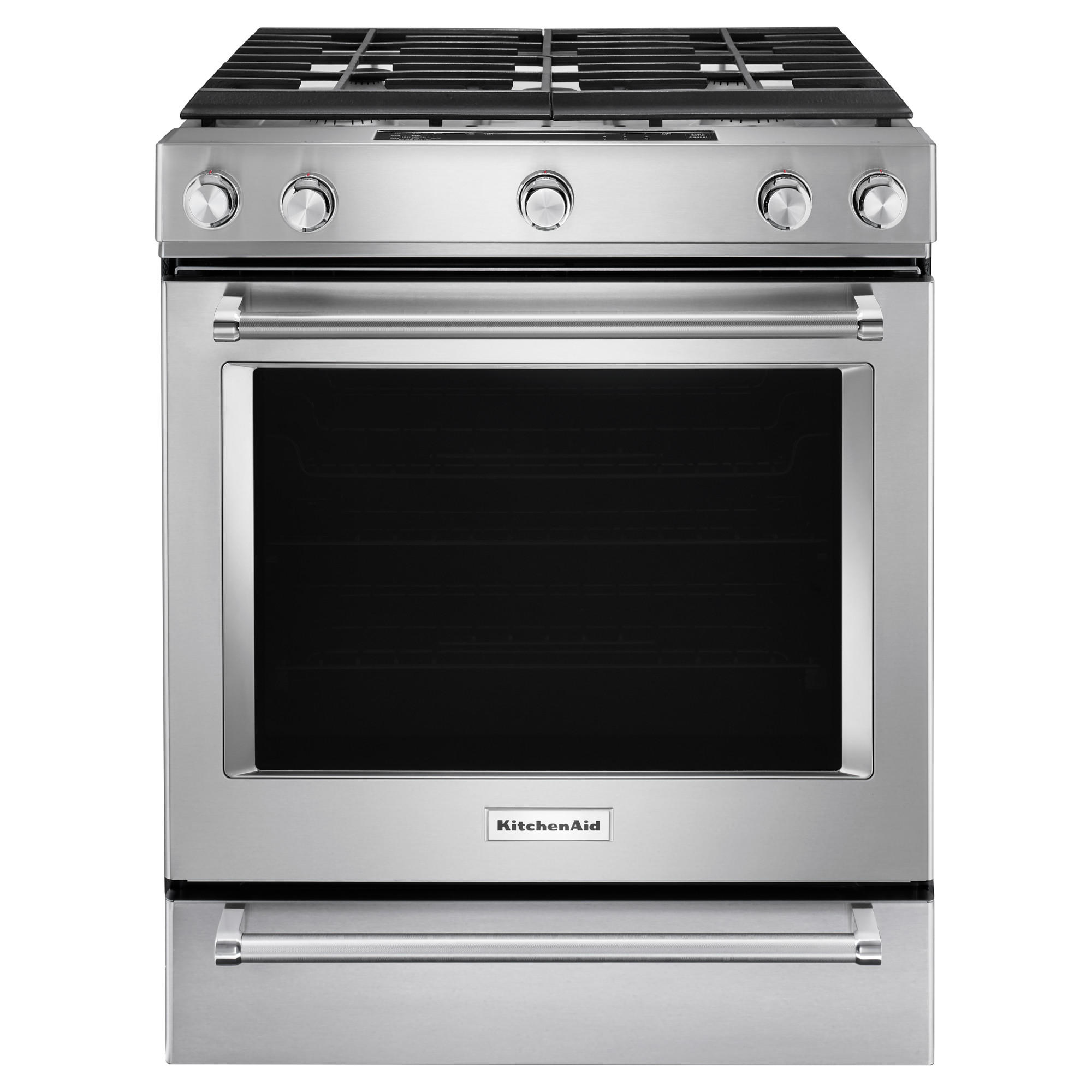 KitchenAid KSGB900ESS 6.5 cu. ft. 5-Burner Gas Convection Slide-in Range - Stainless Steel