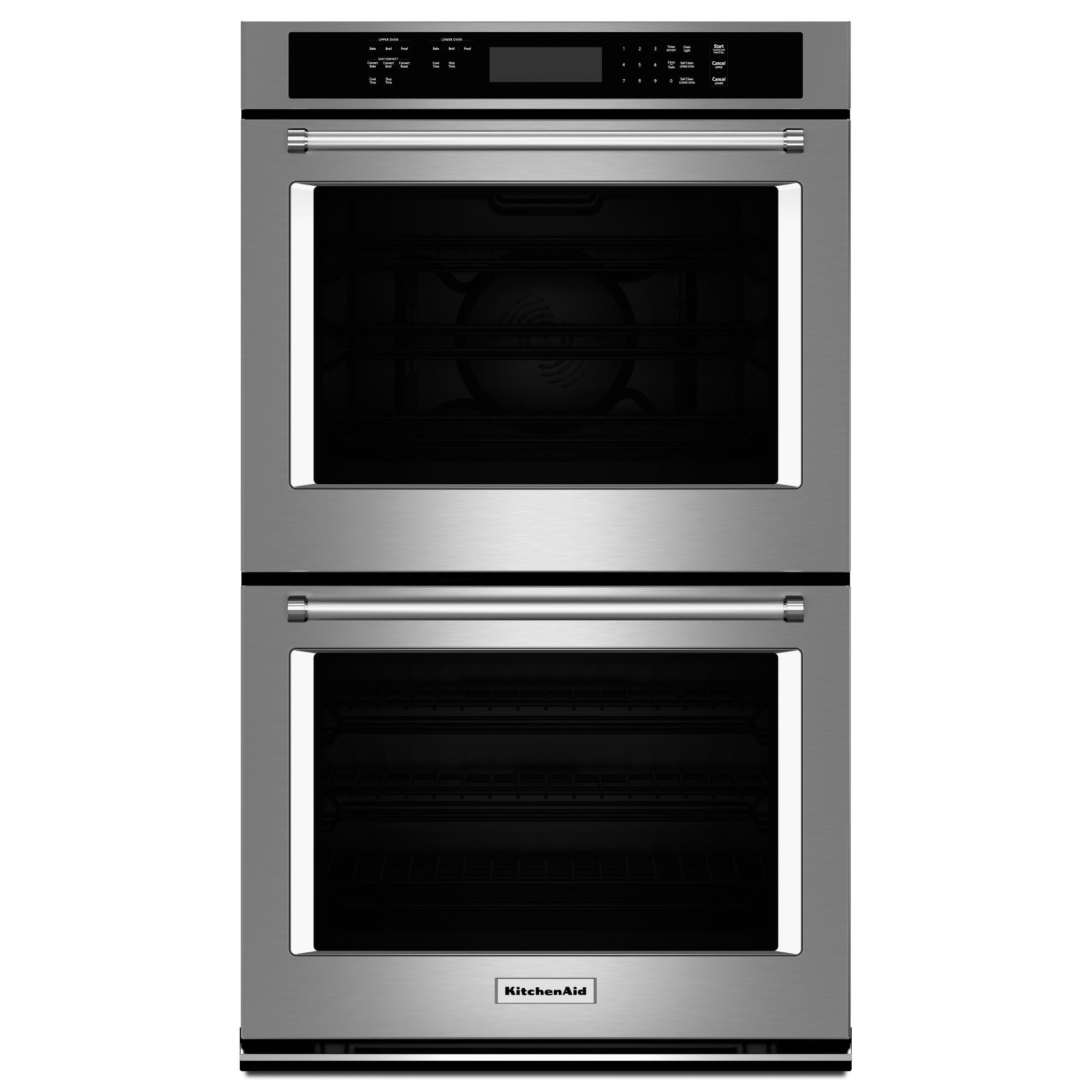KitchenAid KODE300ESS 5.0 cu. ft. each Double Wall Oven w/ Even-Heat™ True Convection - Stainless Steel