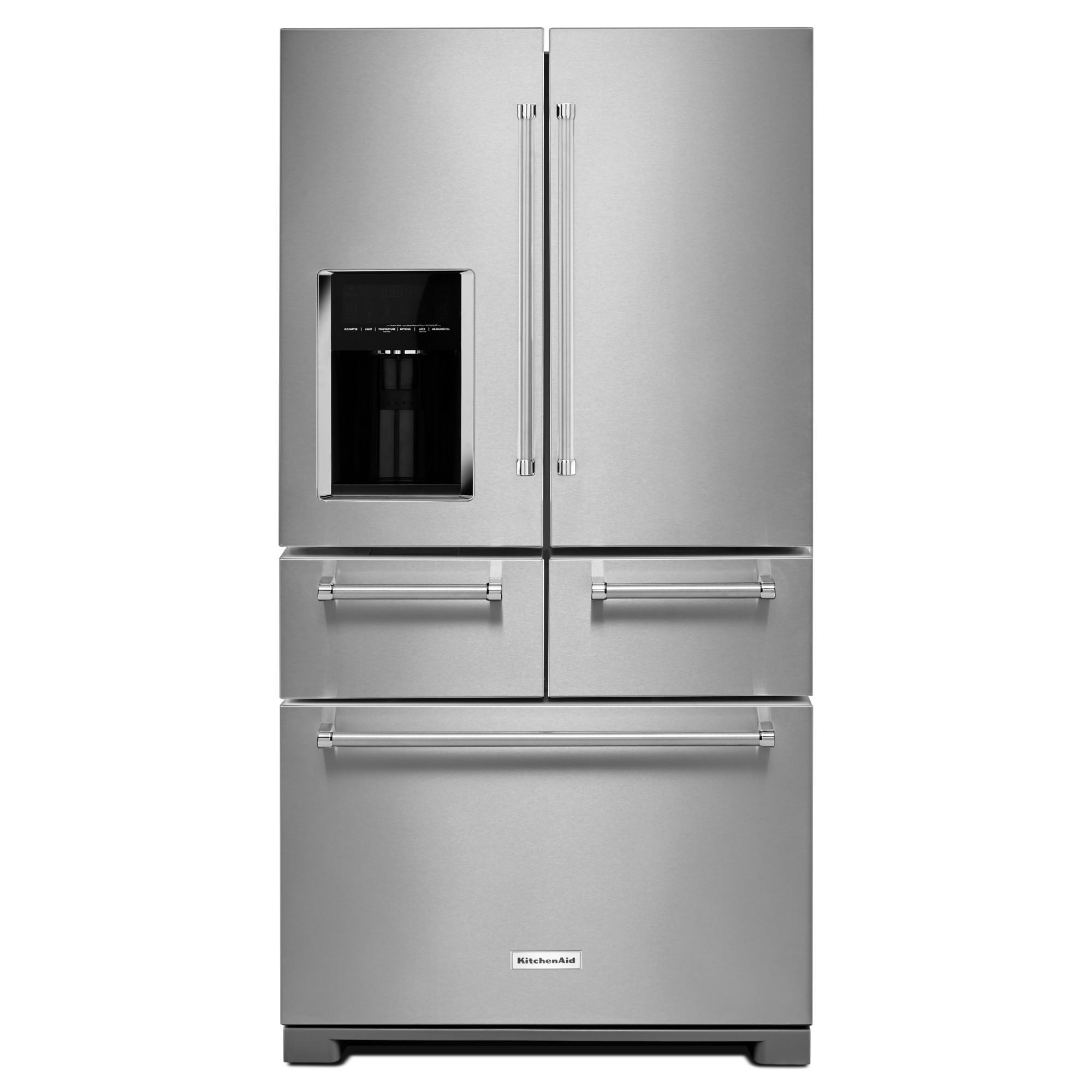 KitchenAid KRMF606ESS 25.8 cu. ft. Multi-Door Freestanding Refrigerator - Stainless Steel