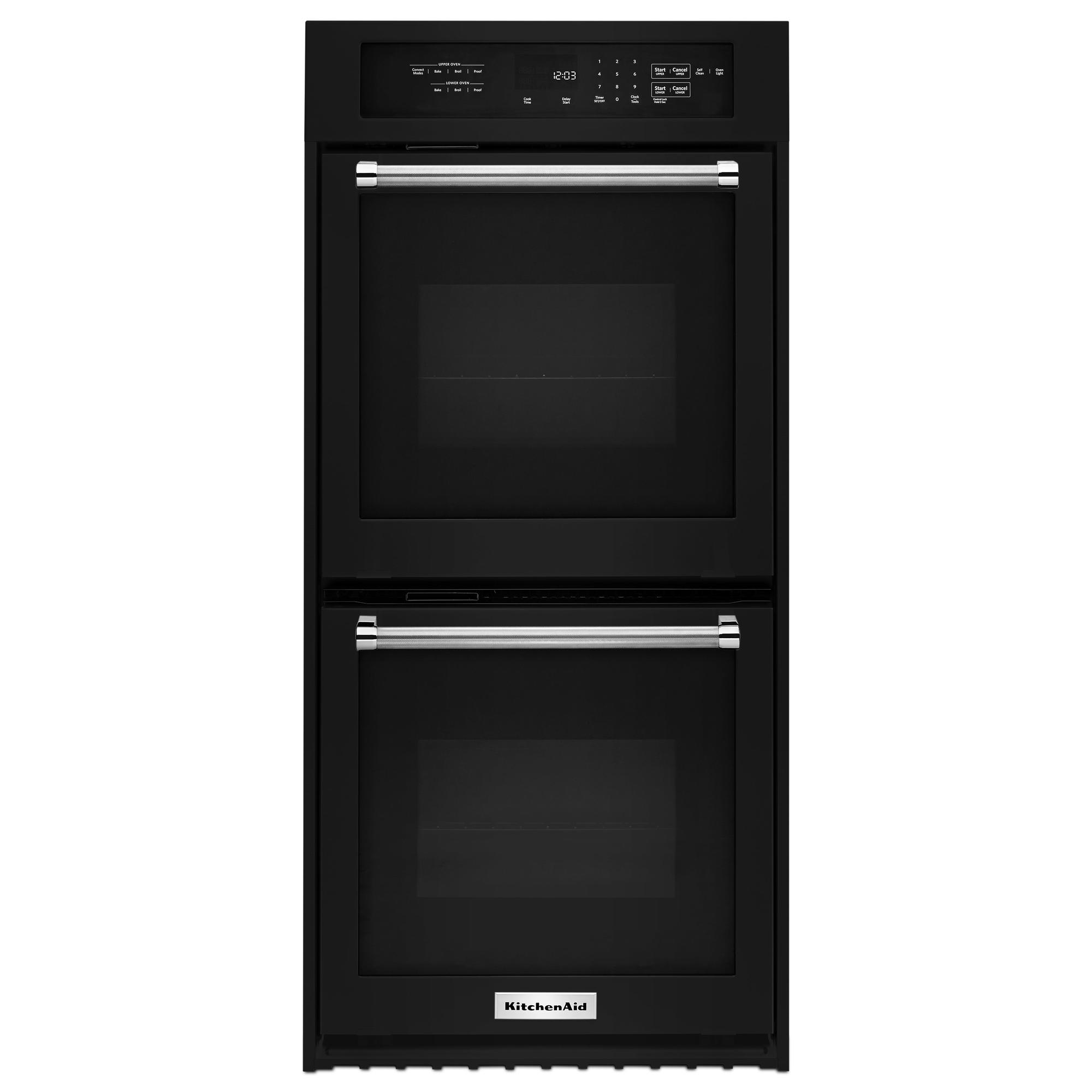 KitchenAid KODC304EBL 24 Double Wall Oven w/ True Convection - Black