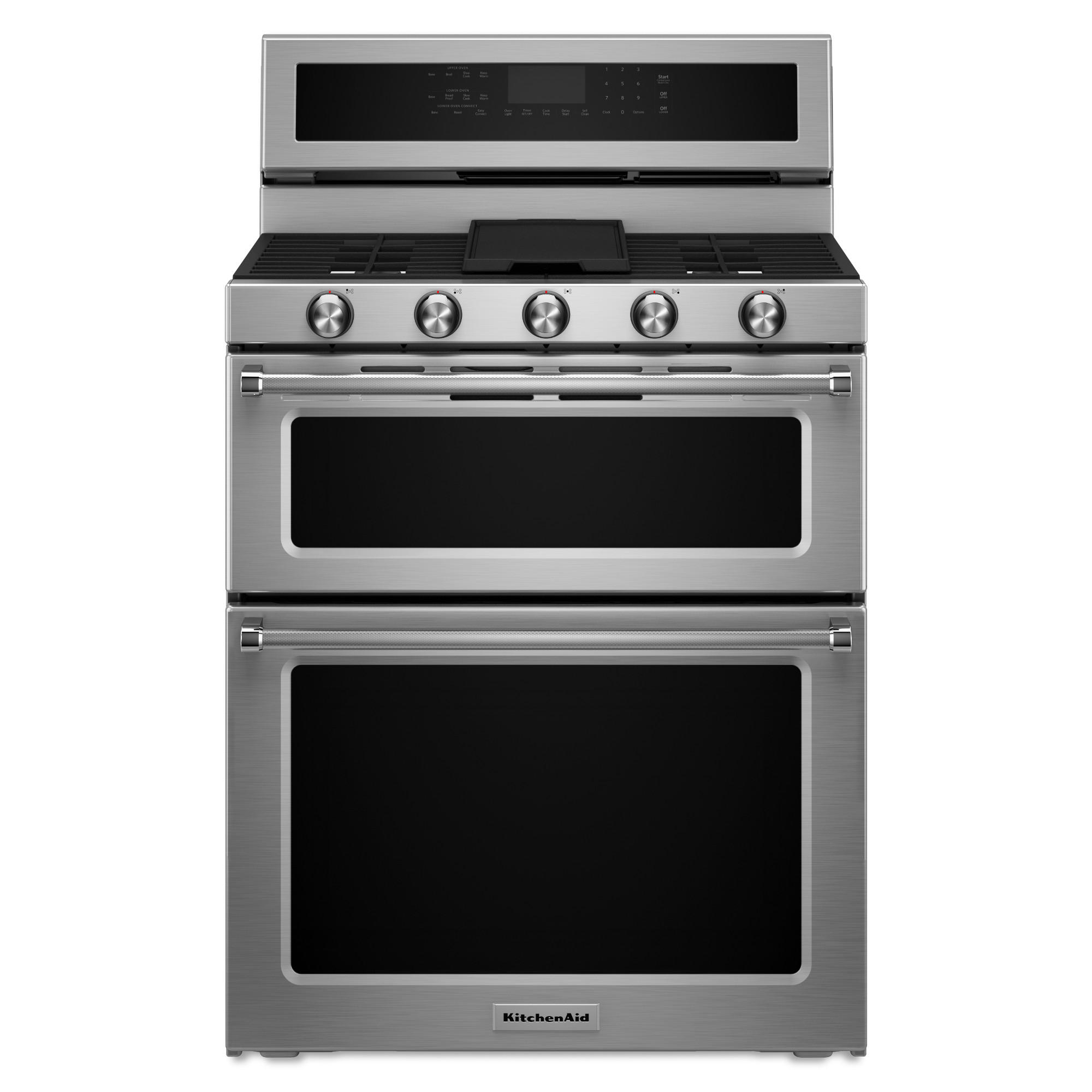 KitchenAid KFDD500ESS 6.7 cu.ft. Dual Fuel Double Oven Range - Stainless Steel