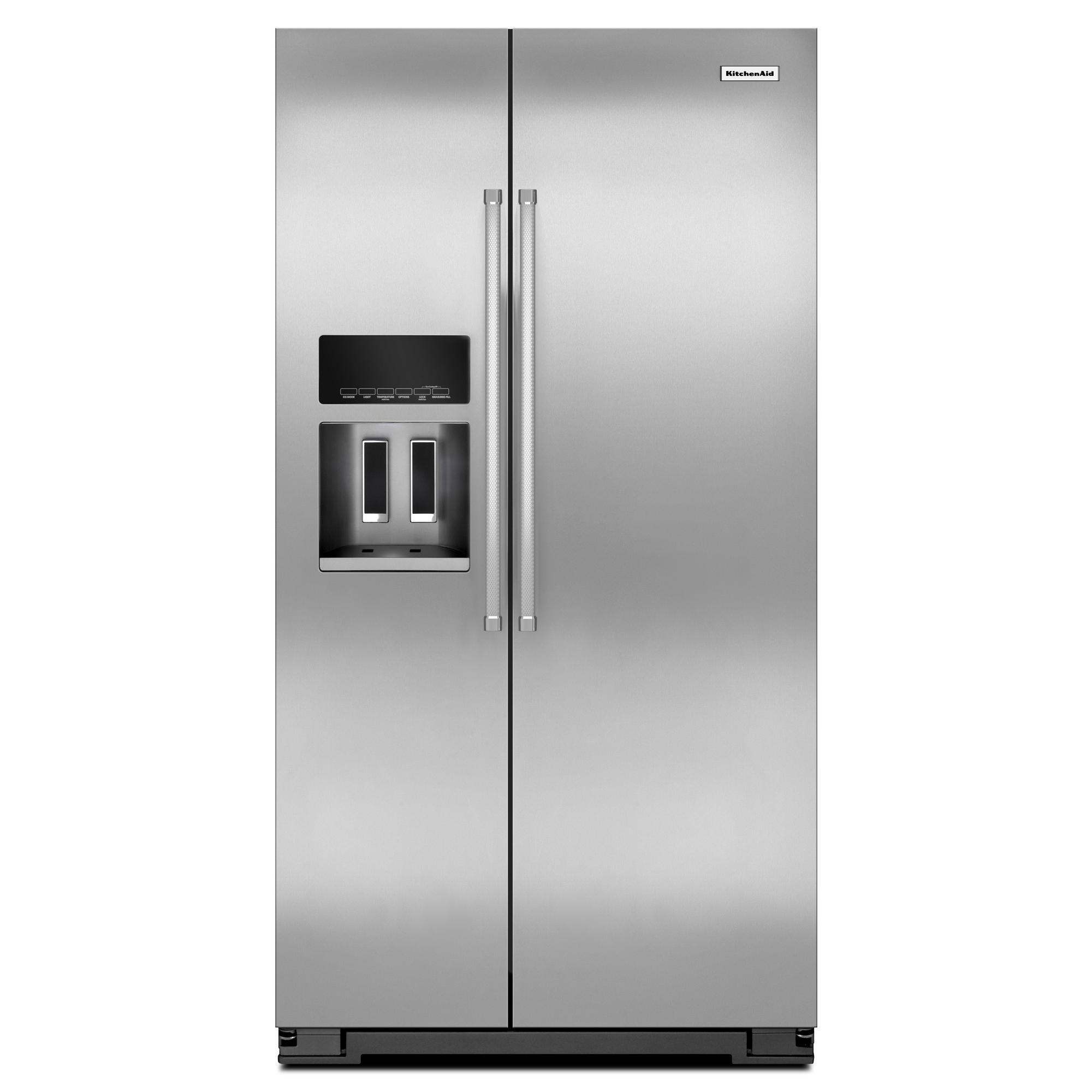 KitchenAid 19.8 cu. ft. Counter-Depth Side-by-Side Refrigerator - Stainless Steel