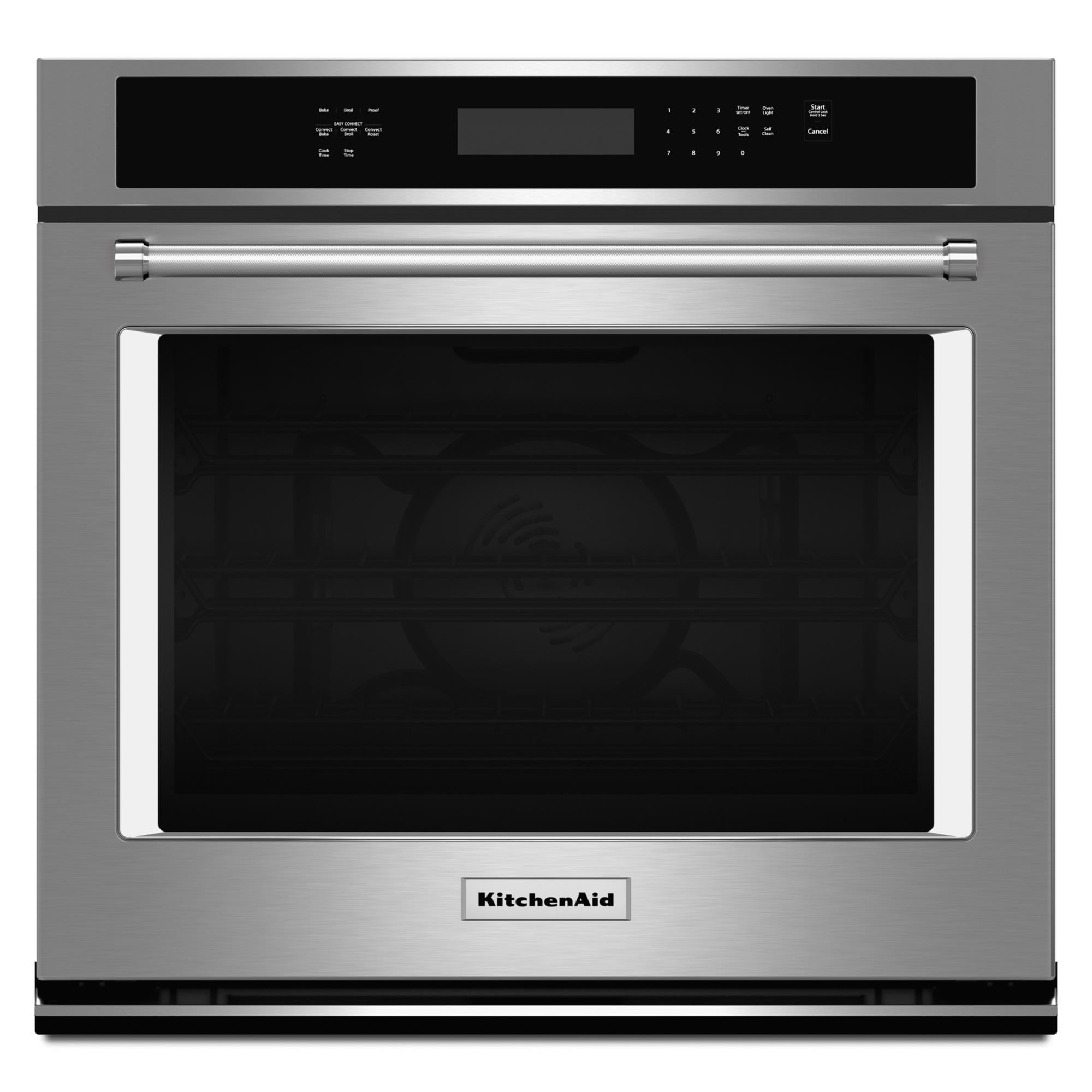 KitchenAid KOSE507ESS 4.3 cu. ft. Single Wall Oven w/ Even-Heat™ True Convection - Stainless Steel
