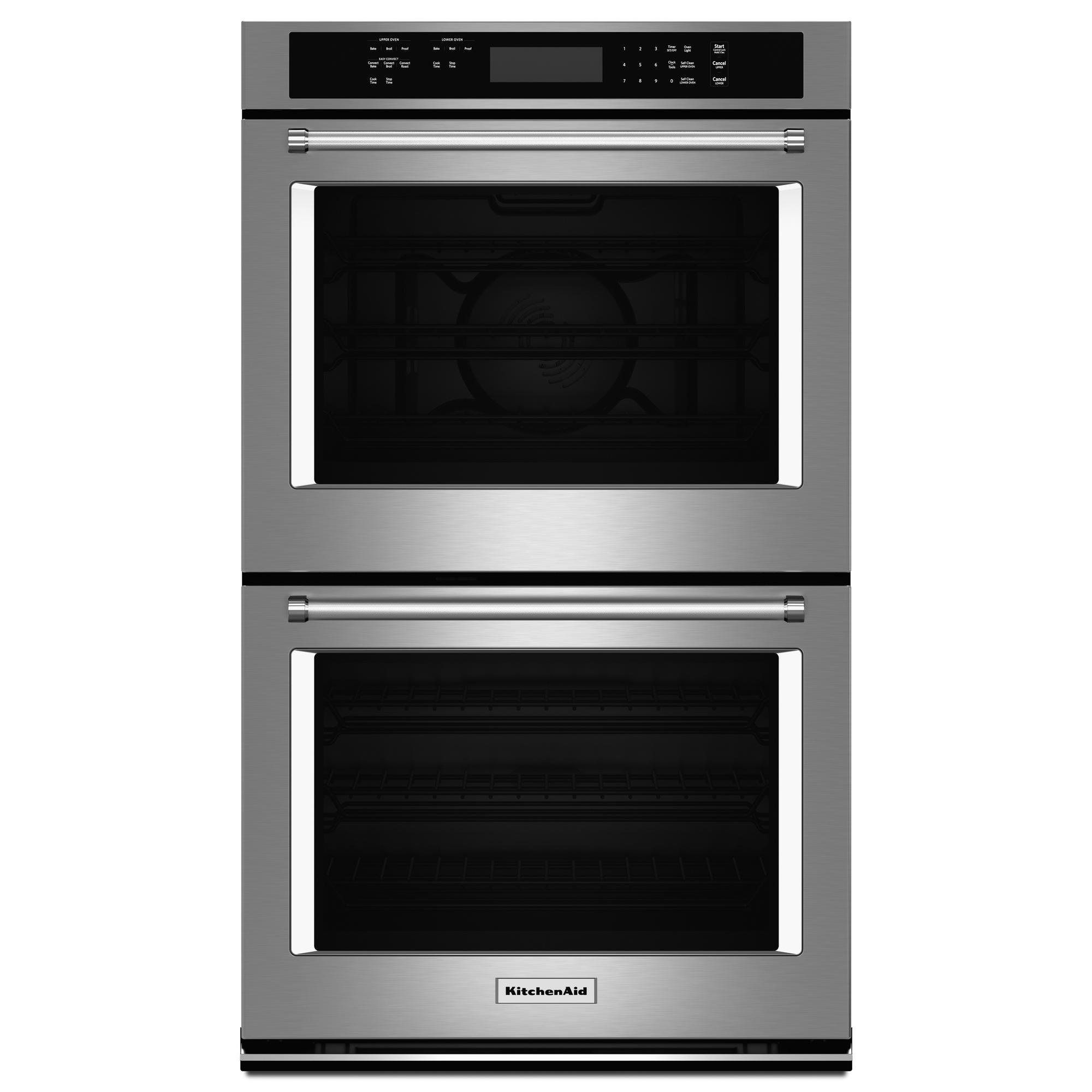 KitchenAid KODE307ESS 4.3 cu. ft. (Each) Double Wall Oven w/ Even-Heat™ True Convection  - Stainless Steel