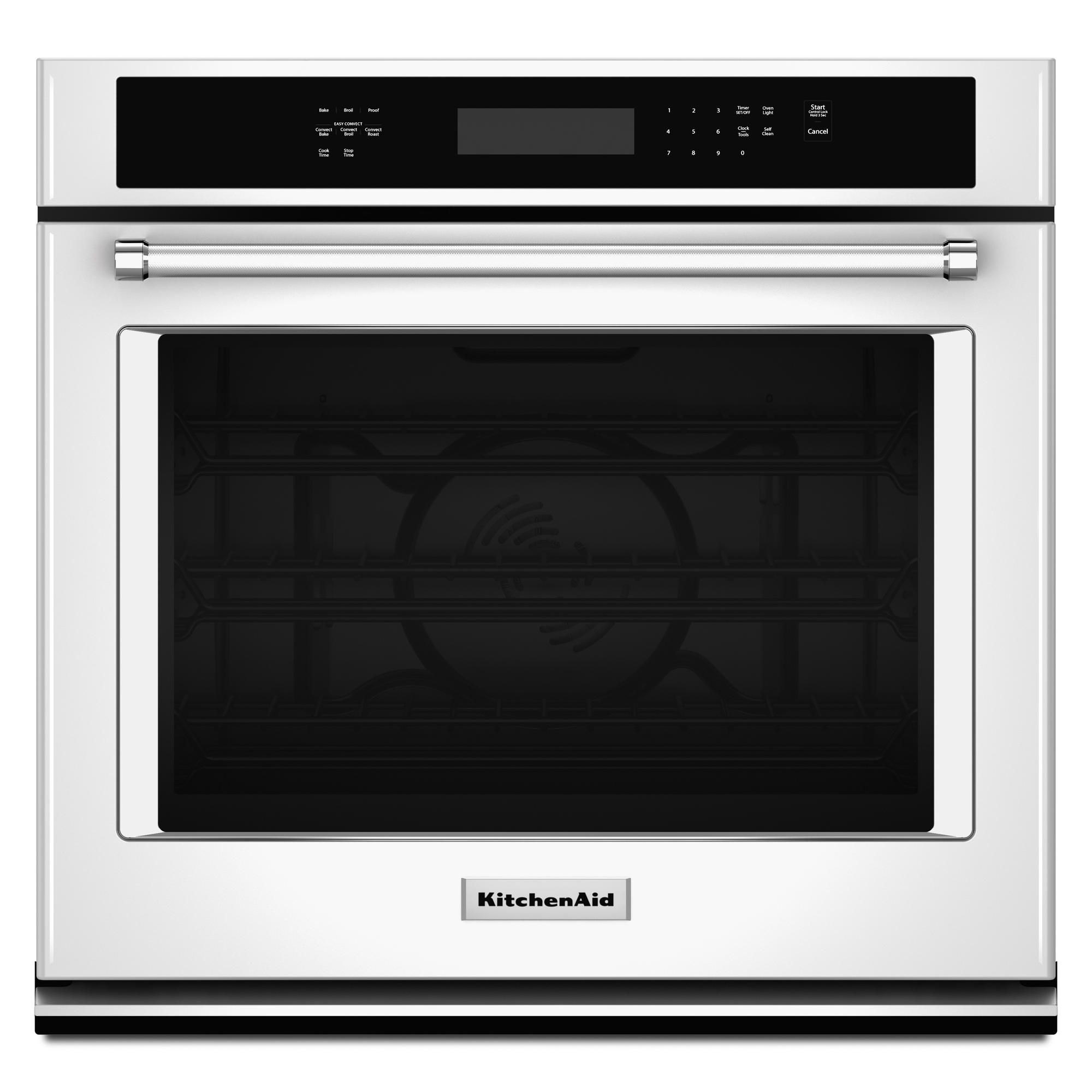 KitchenAid KOSE500EWH 5.0 cu. ft. Single Wall Oven w/ Even-Heat™ True Convection - White