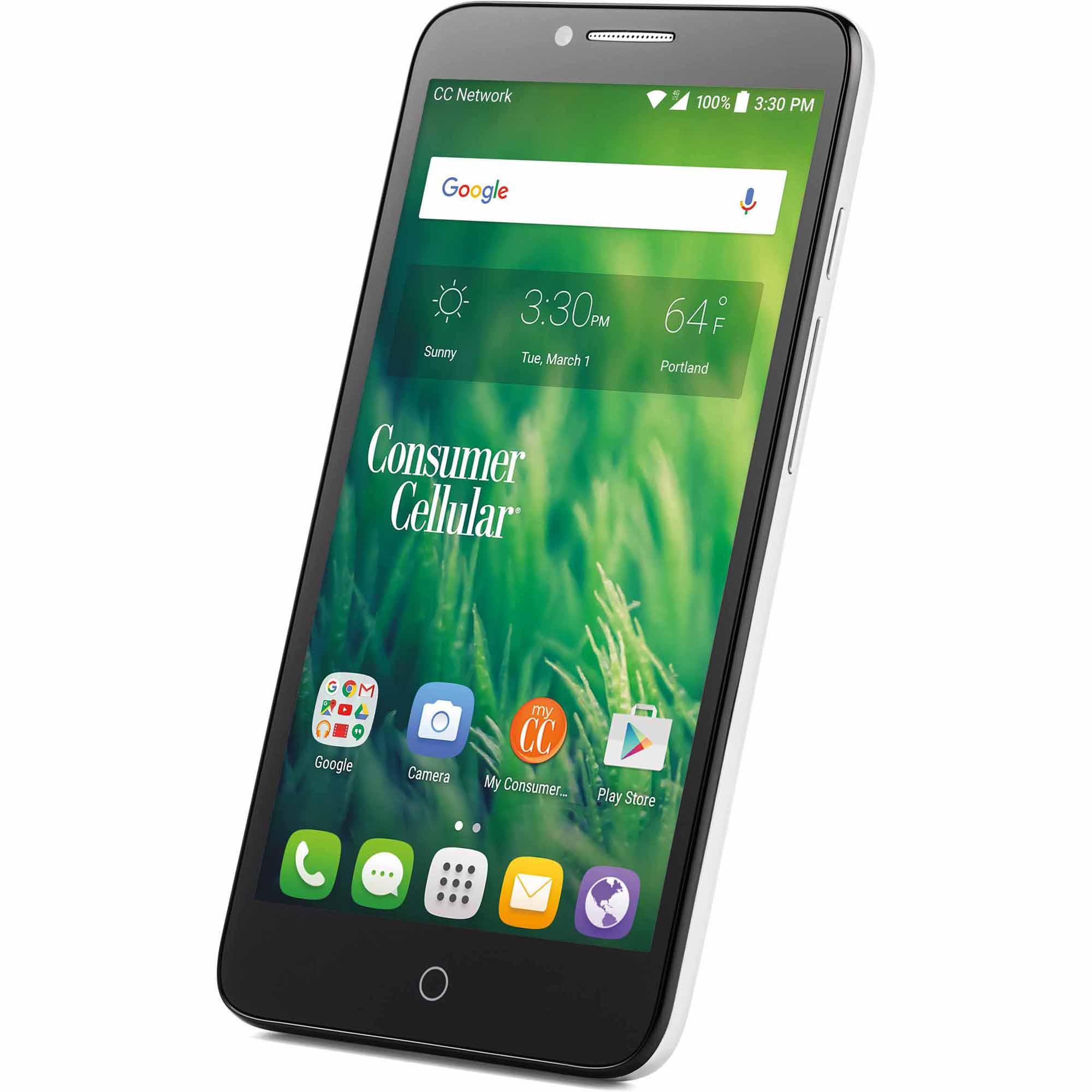 Consumer Cellular Alcatel Pop 3 Smartphone