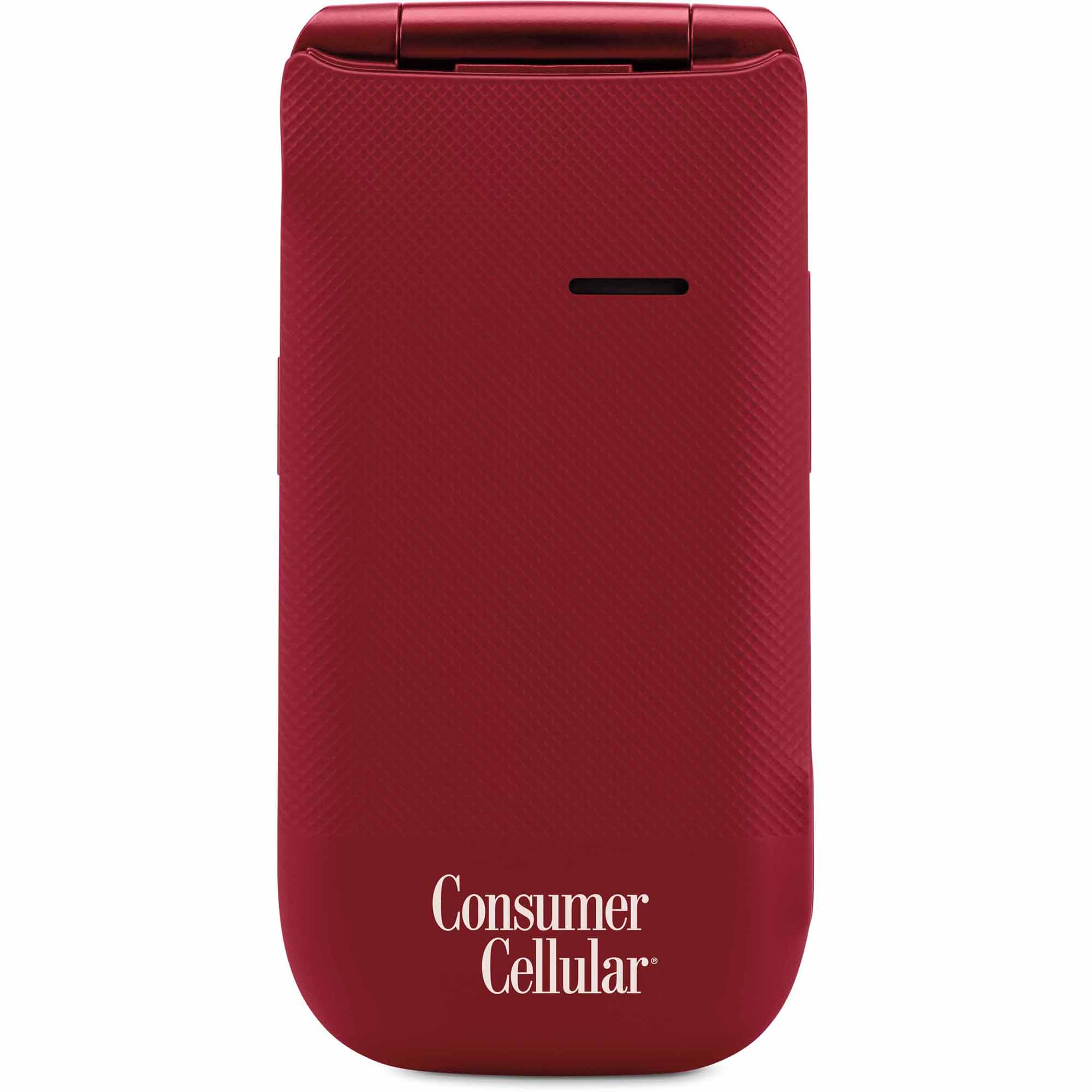 Consumer Cellular 101 Cell Phone - Red