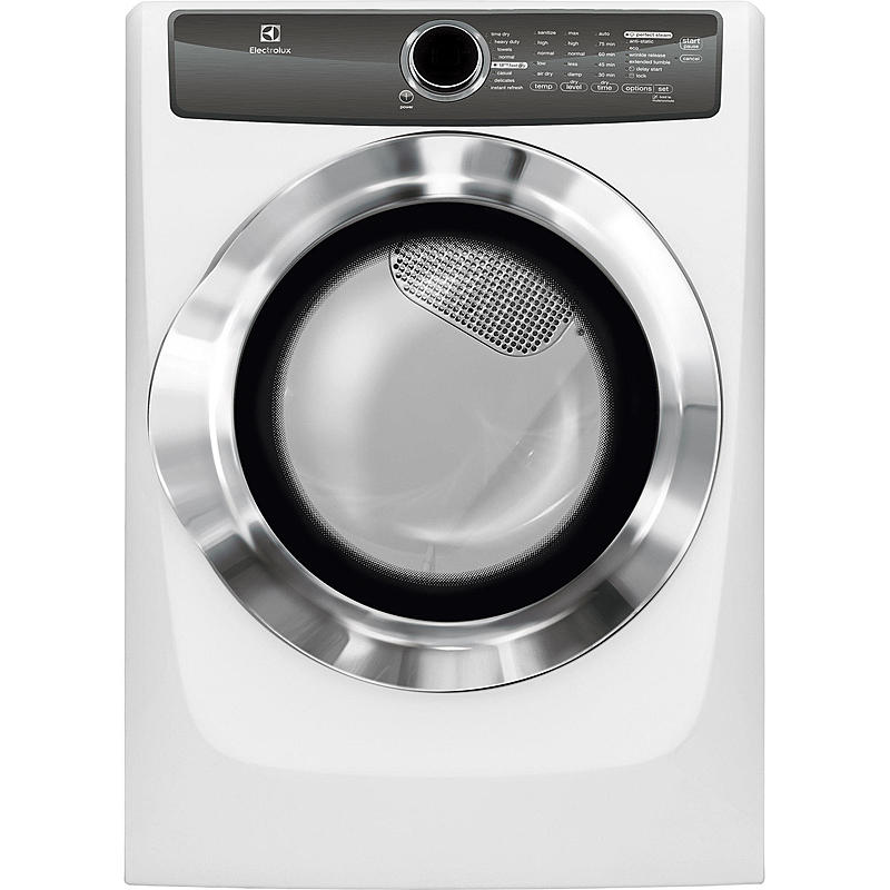 Electrolux EFME517SIW 8.0 cu. ft. Instant Refresh Electric Dryer - White