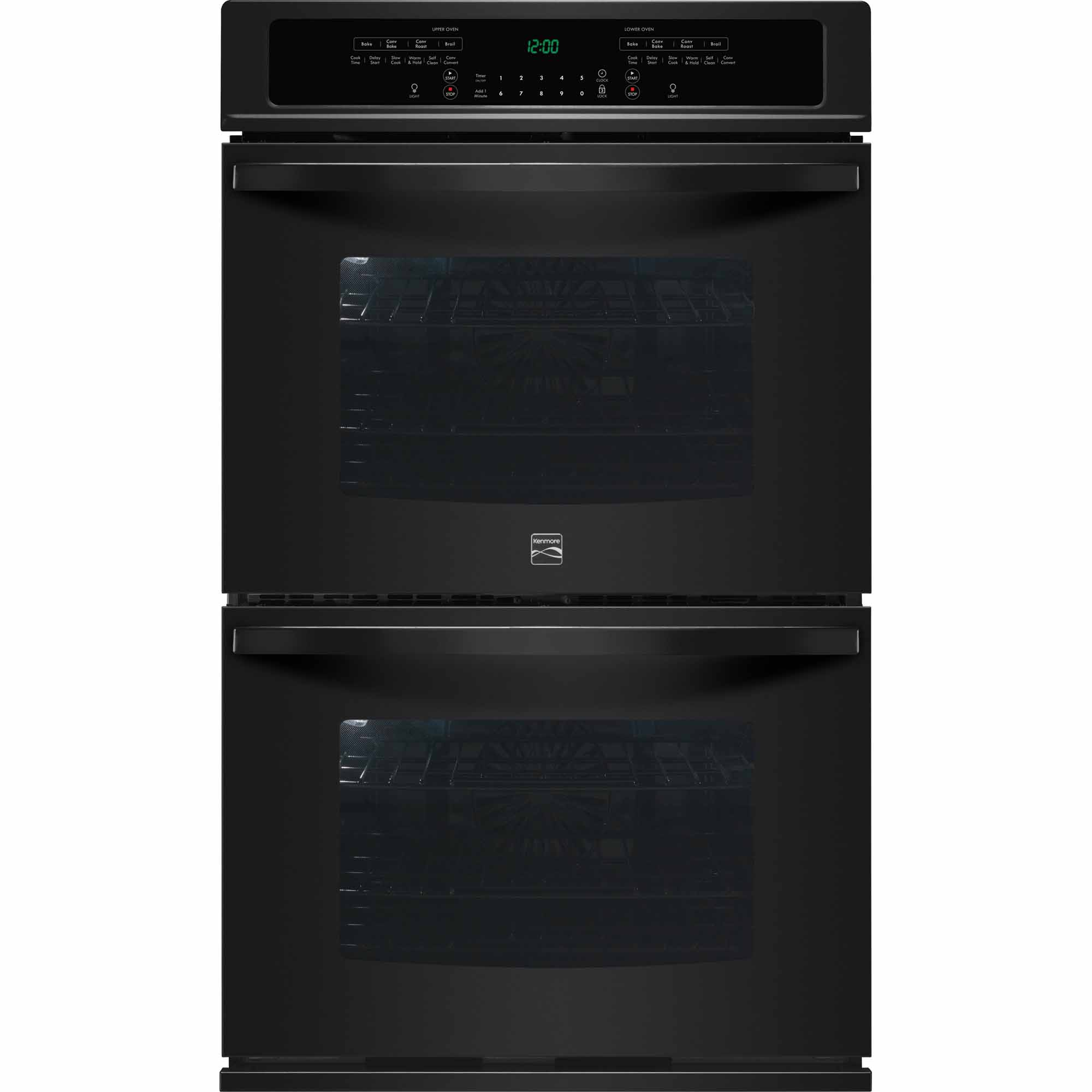 Kenmore 49539 30 Self-Clean Double Electric Wall Oven w/ Convection - Black