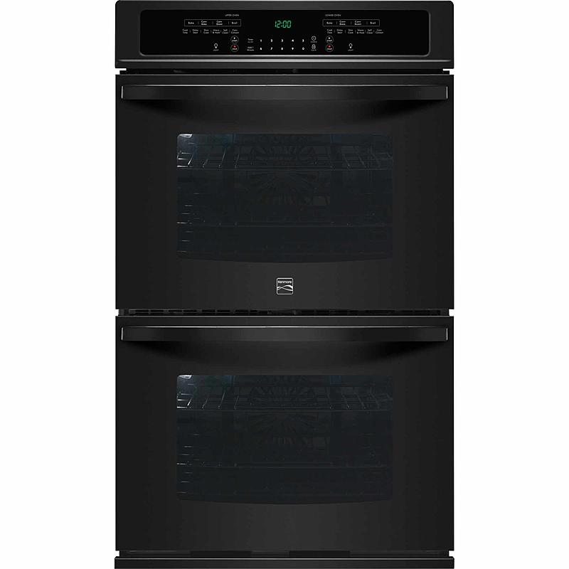 """Kenmore 49539 30"""" Self-Clean Double Electric Wall Oven w/ Convection - Black"""