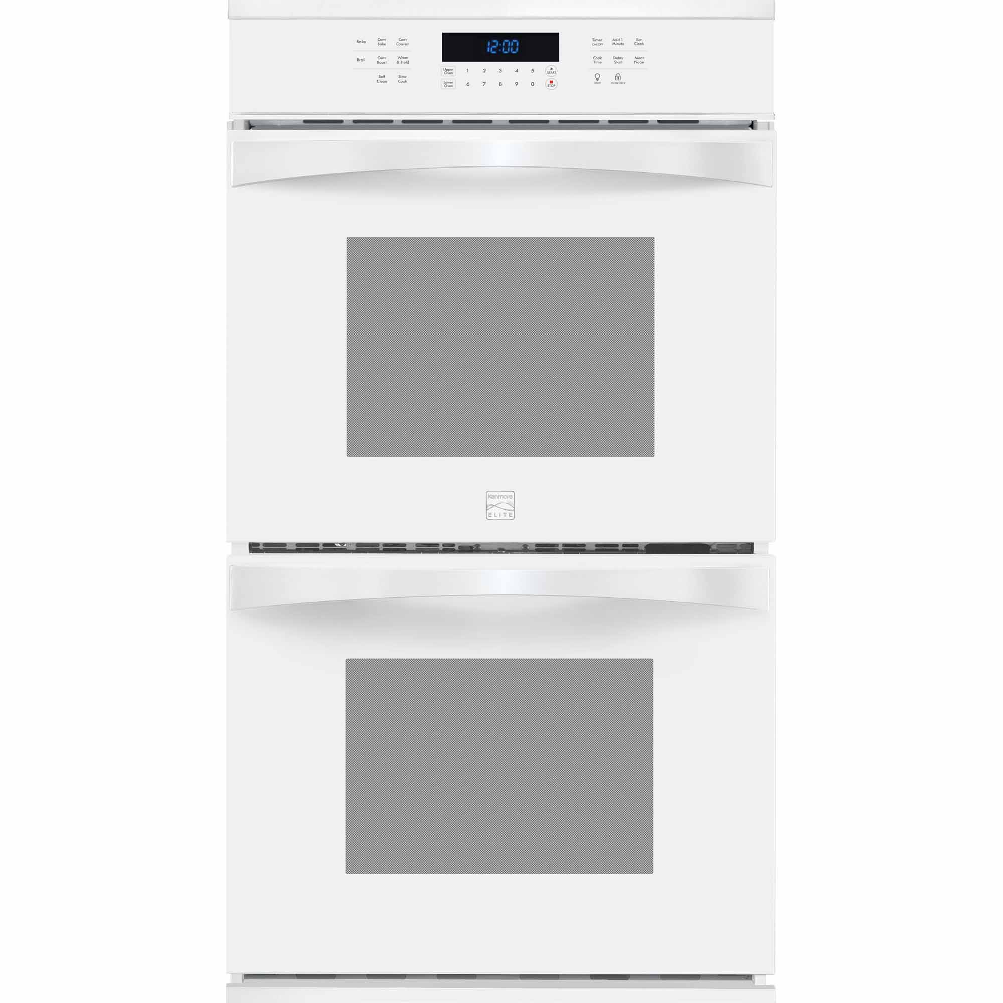 Kenmore Elite 48442 27 Electric Double Wall Oven w/ True Convection™ - White