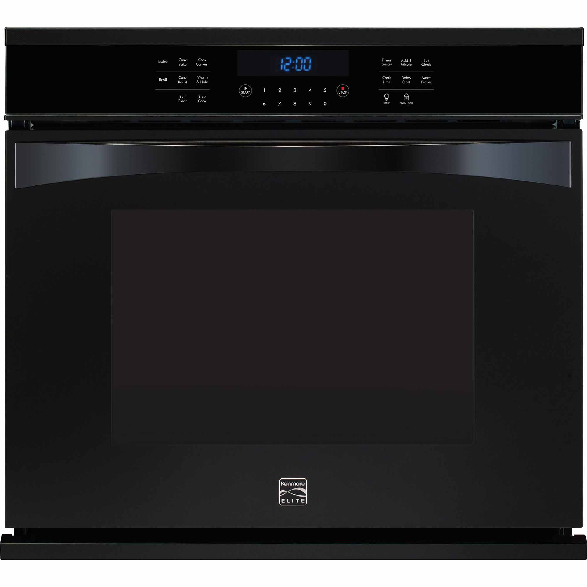 Kenmore Elite 48359 30 Electric Single Wall Oven - Black