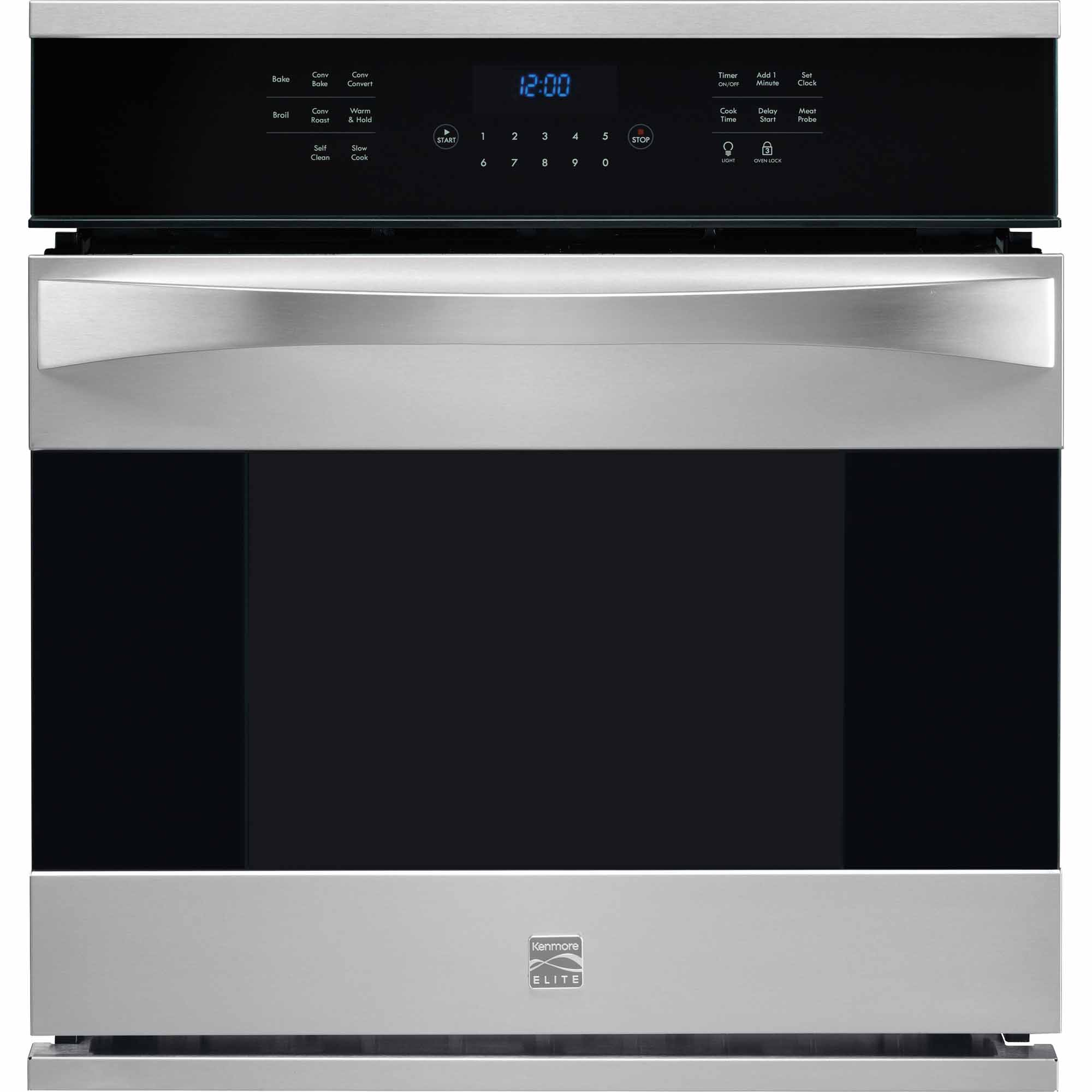 Kenmore Elite 48343 27 Electric Single Wall Oven - Stainless Steel 48343