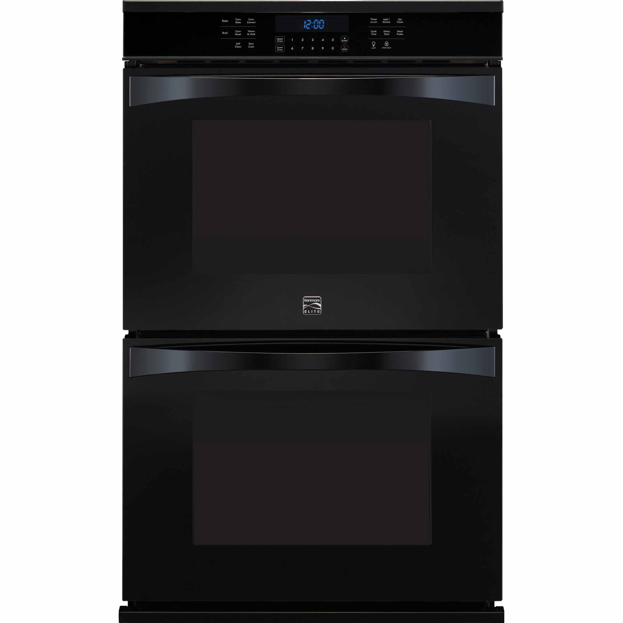 Kenmore Elite 48459 30 Electric Double Wall Oven - Black
