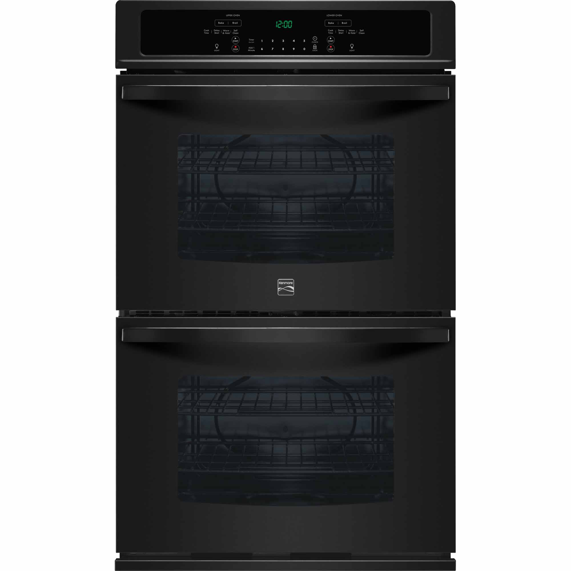 Kenmore 49419 27 Self-Clean Double Electric Wall Oven - Black
