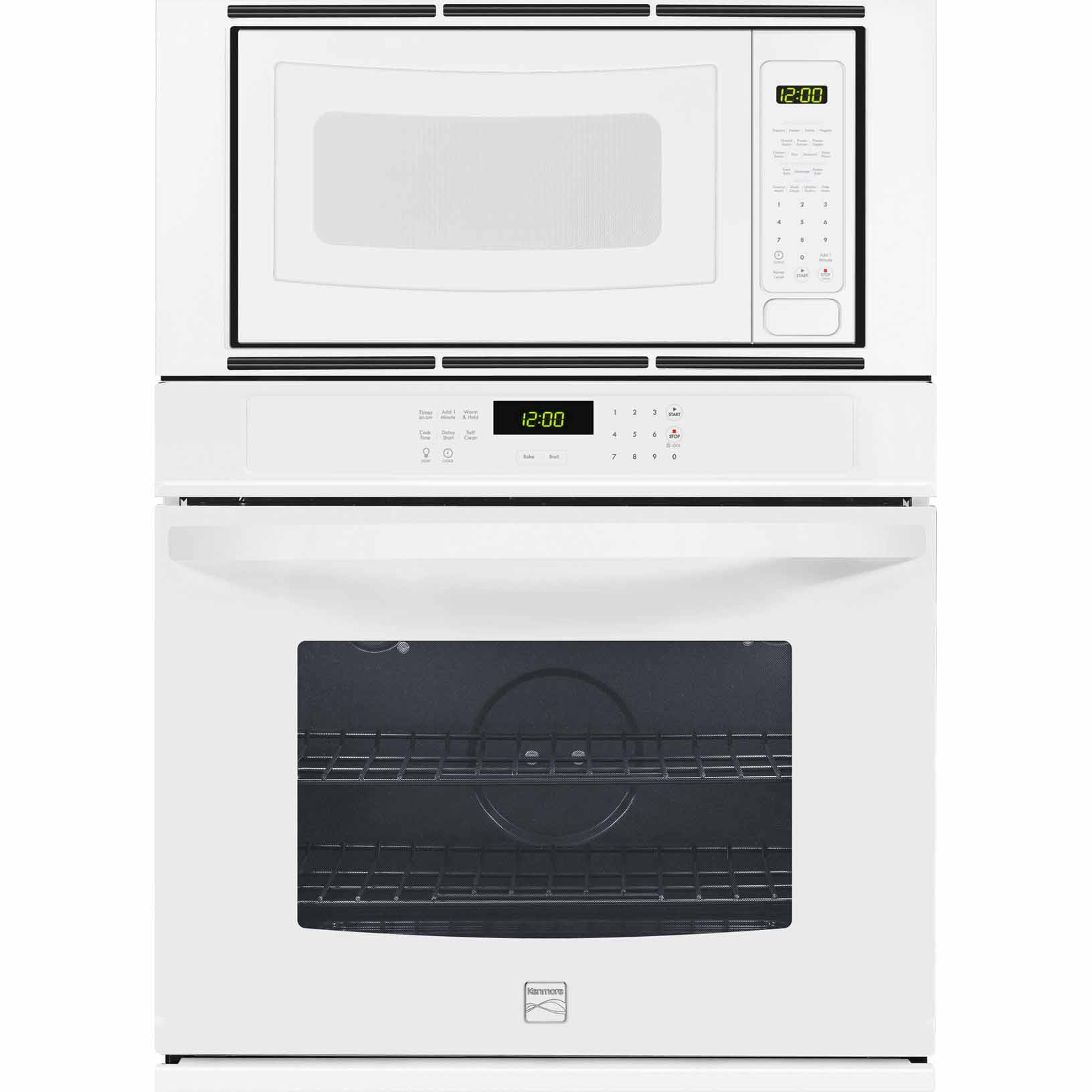 Kenmore 49612 30 Electric Combination Wall Oven - White