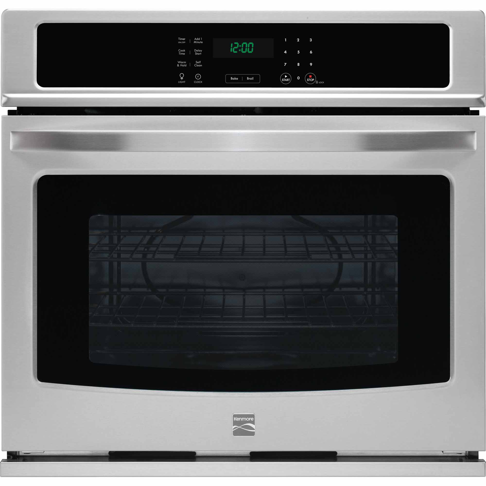 Kenmore 49403 27 Electric Self-Clean Single Wall Oven - Stainless Steel