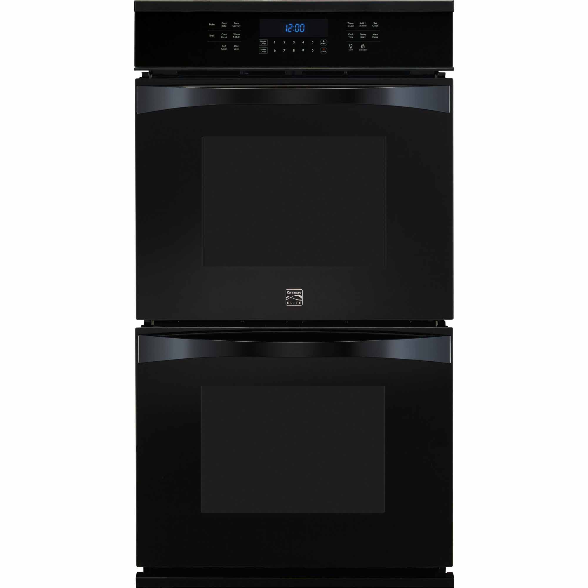 Kenmore Elite 48449 27 Electric Double Wall Oven w/ True Convection™  - Black