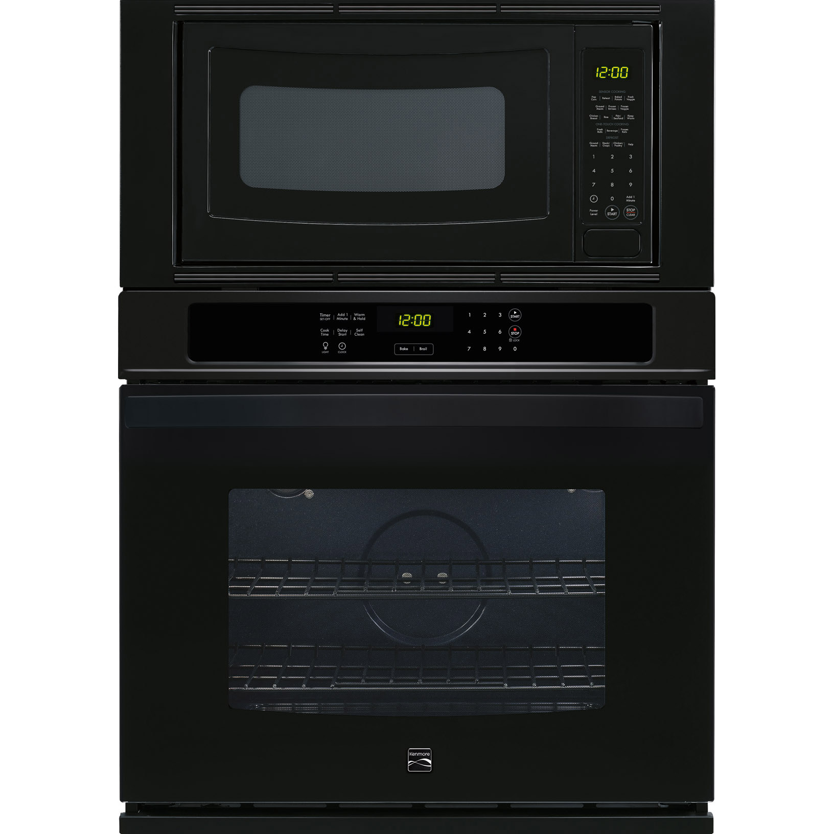 Kenmore 49619 30 Electric Combination Wall Oven - Black