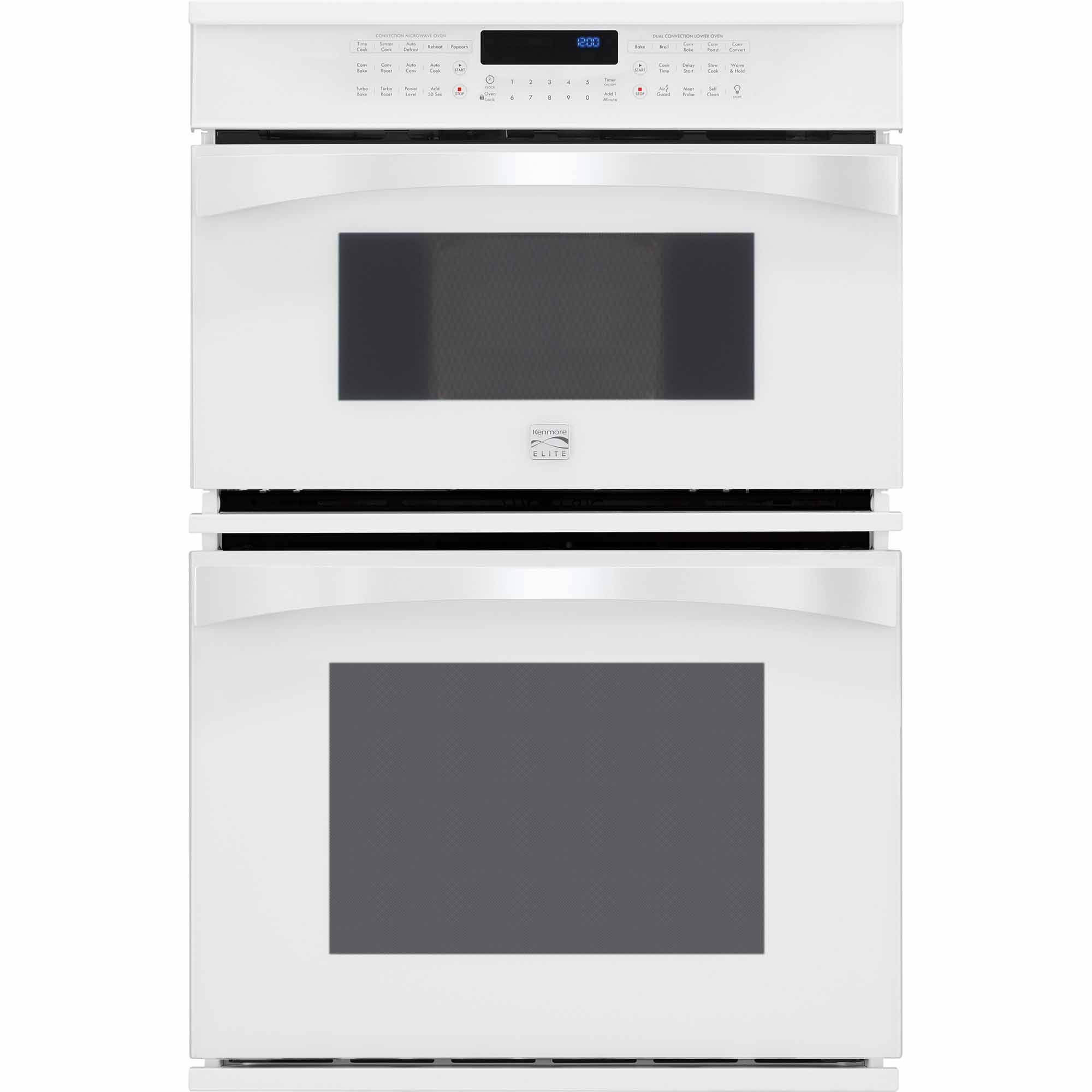 Kenmore Elite 49112 30 Electric Combination Oven - White