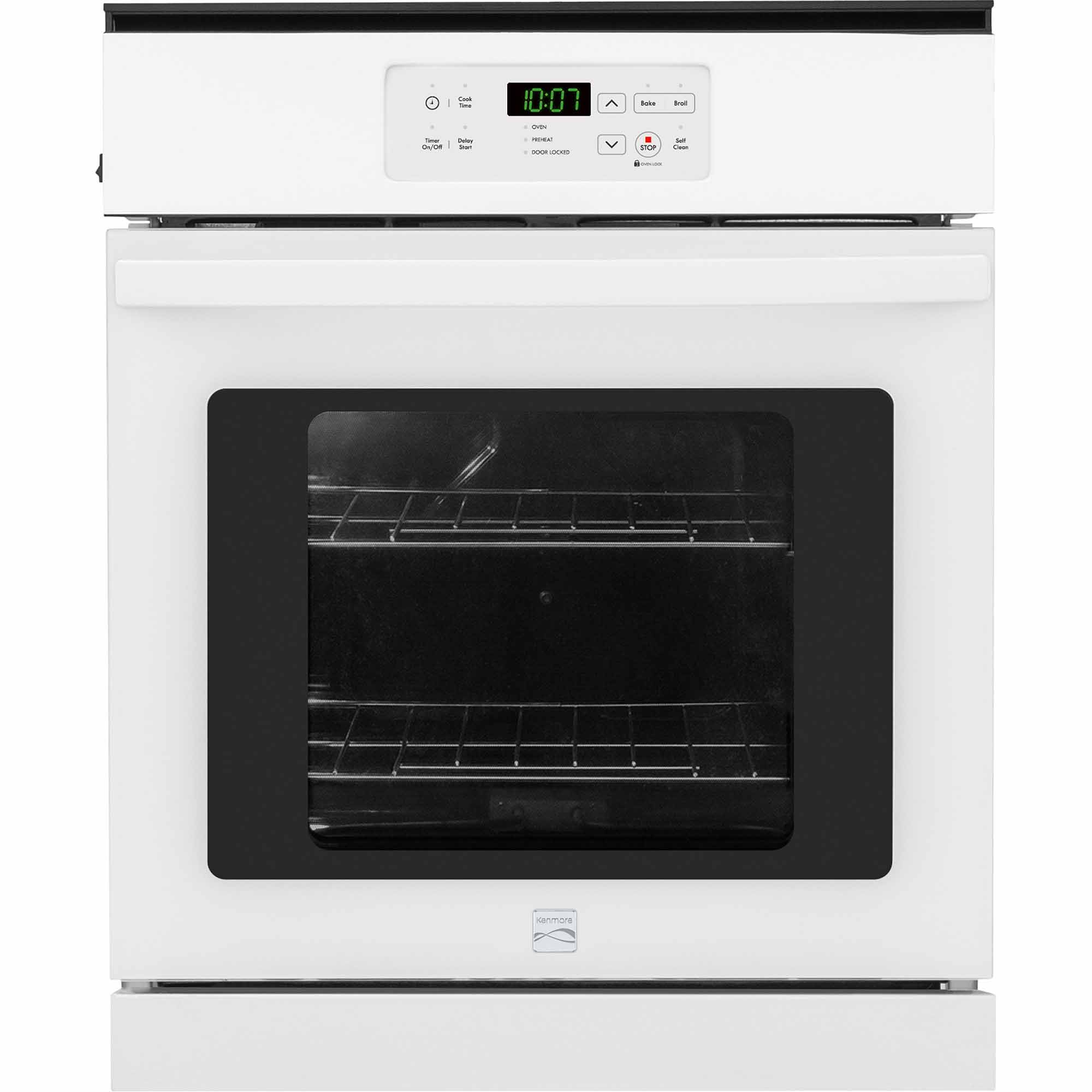 Kenmore 40282 24 Self-Cleaning Electric Wall Oven - White