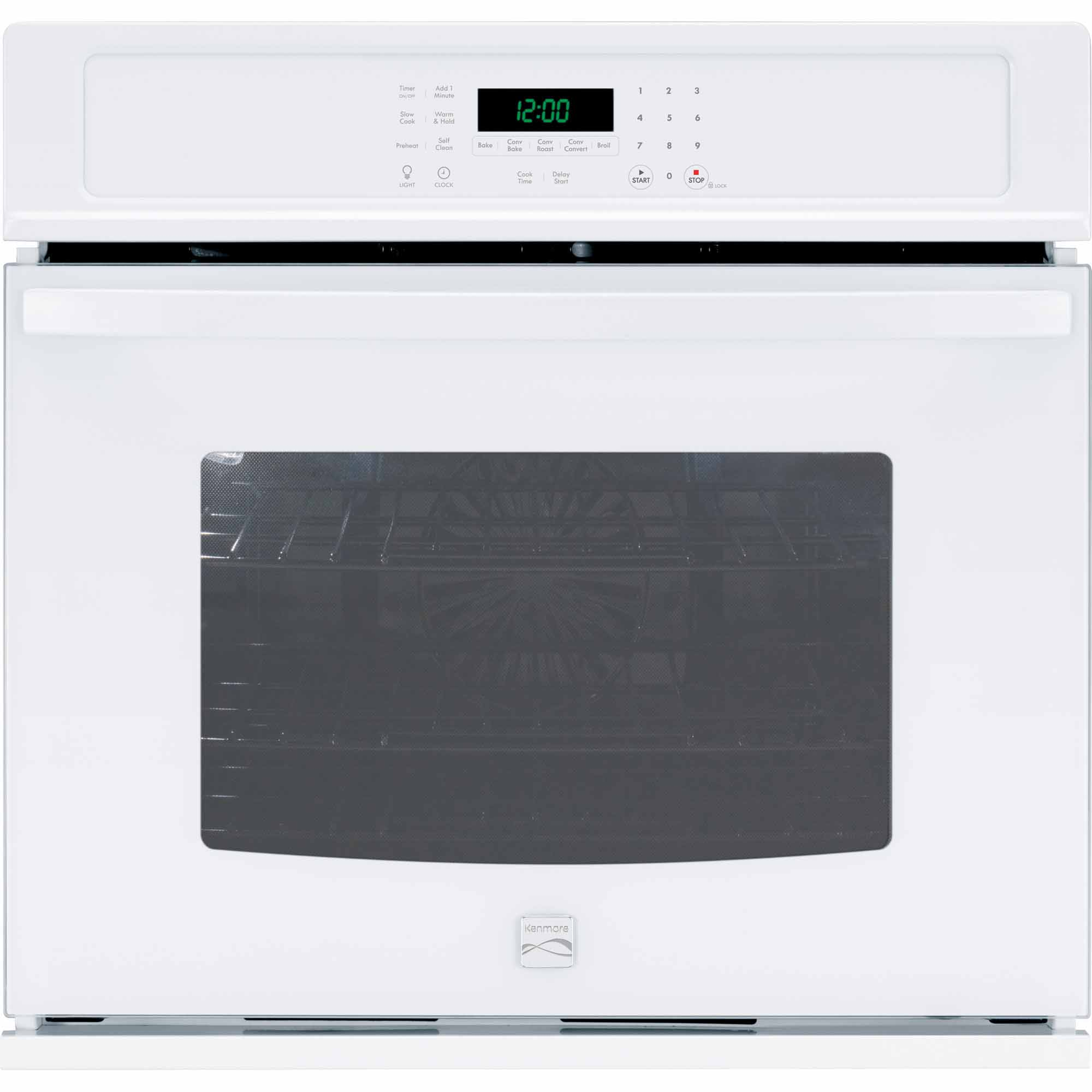 Kenmore 49512 30 Electric Self-Clean Single Wall Oven /w Convection - White
