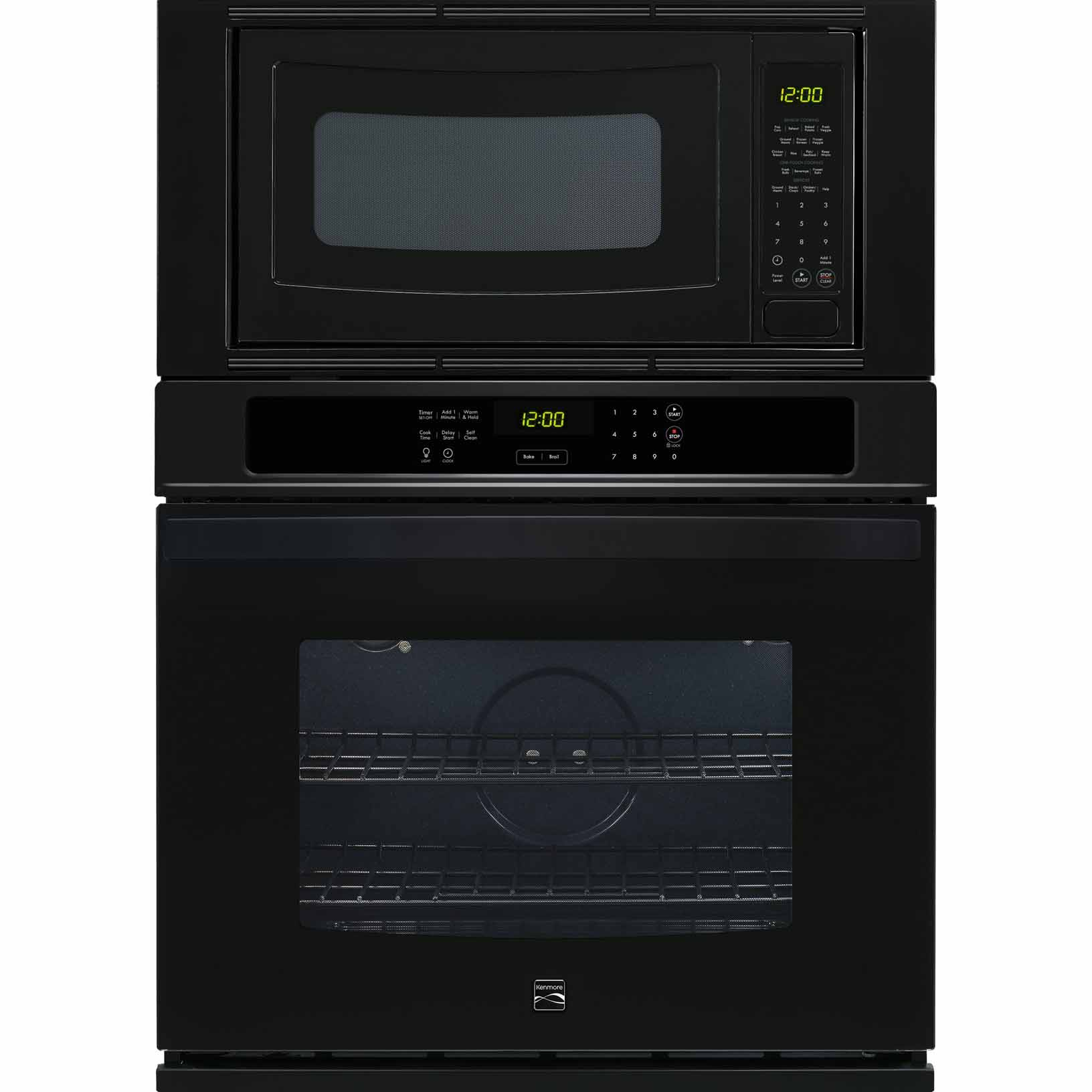 Kenmore 49609 27 Electric Combination Wall Oven - Black