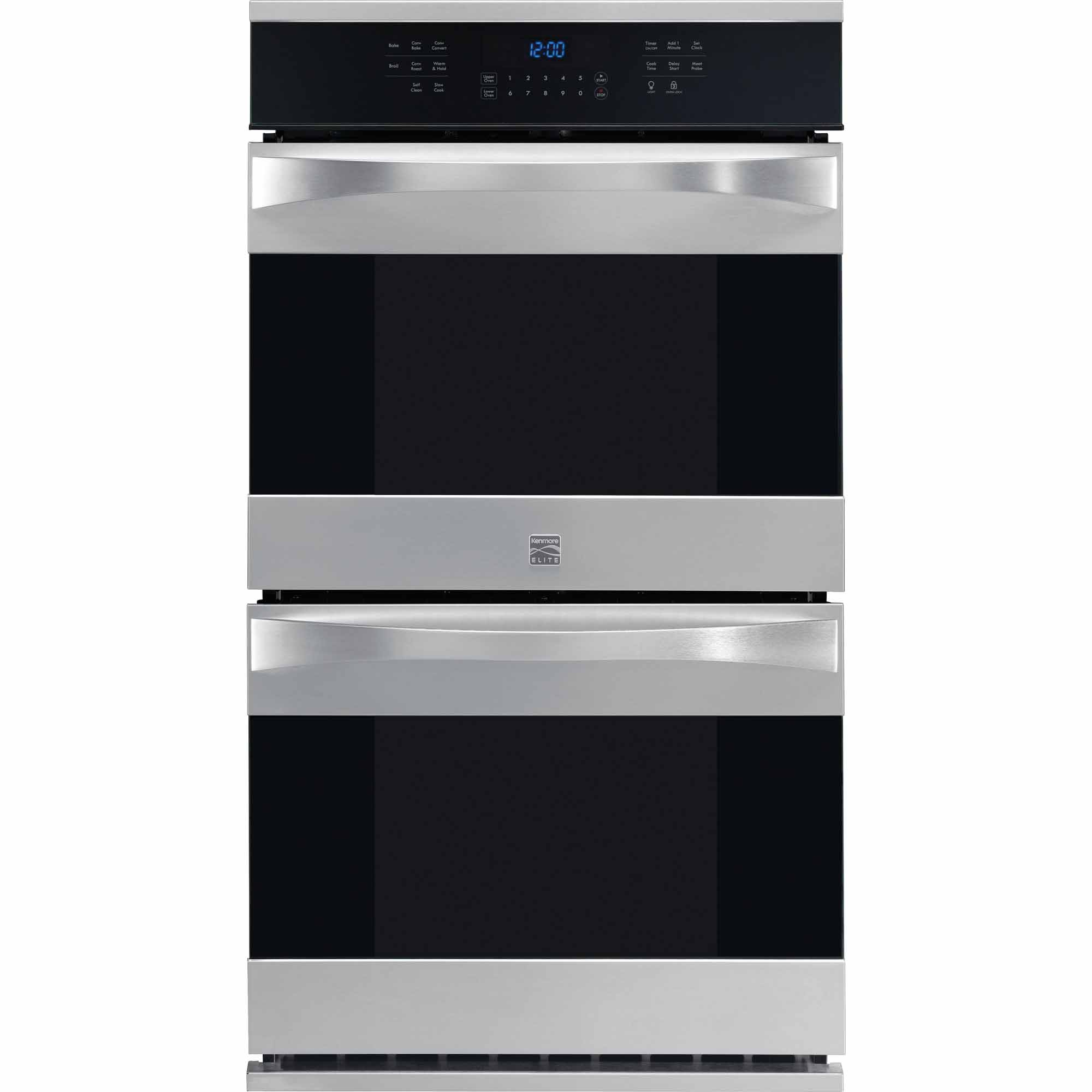 Kenmore Elite 48443 27 Electric Double Wall Oven w/ True Convection™  - Stainless Steel