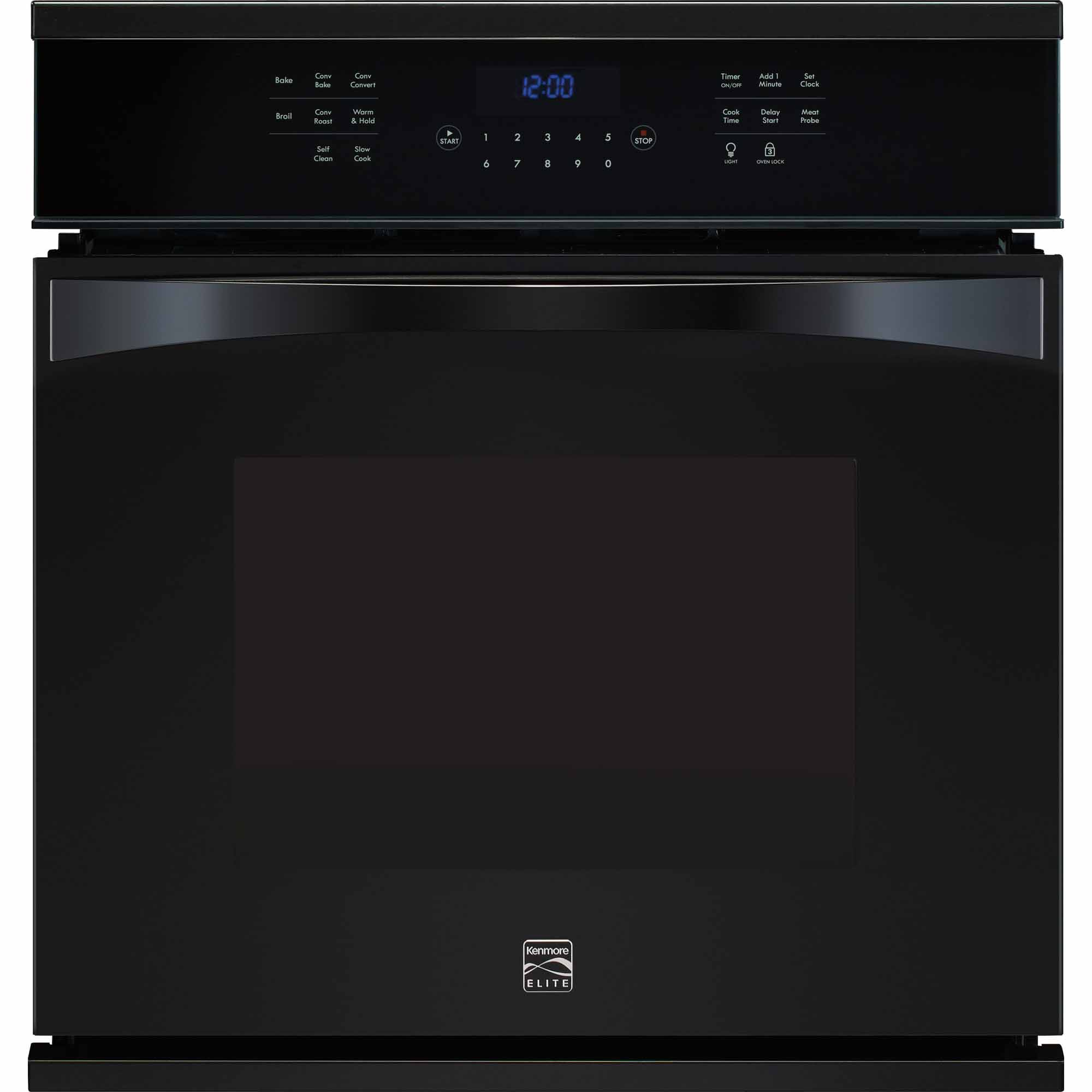 Kenmore Elite 48349 27 Electric Single Wall Oven - Black 48349
