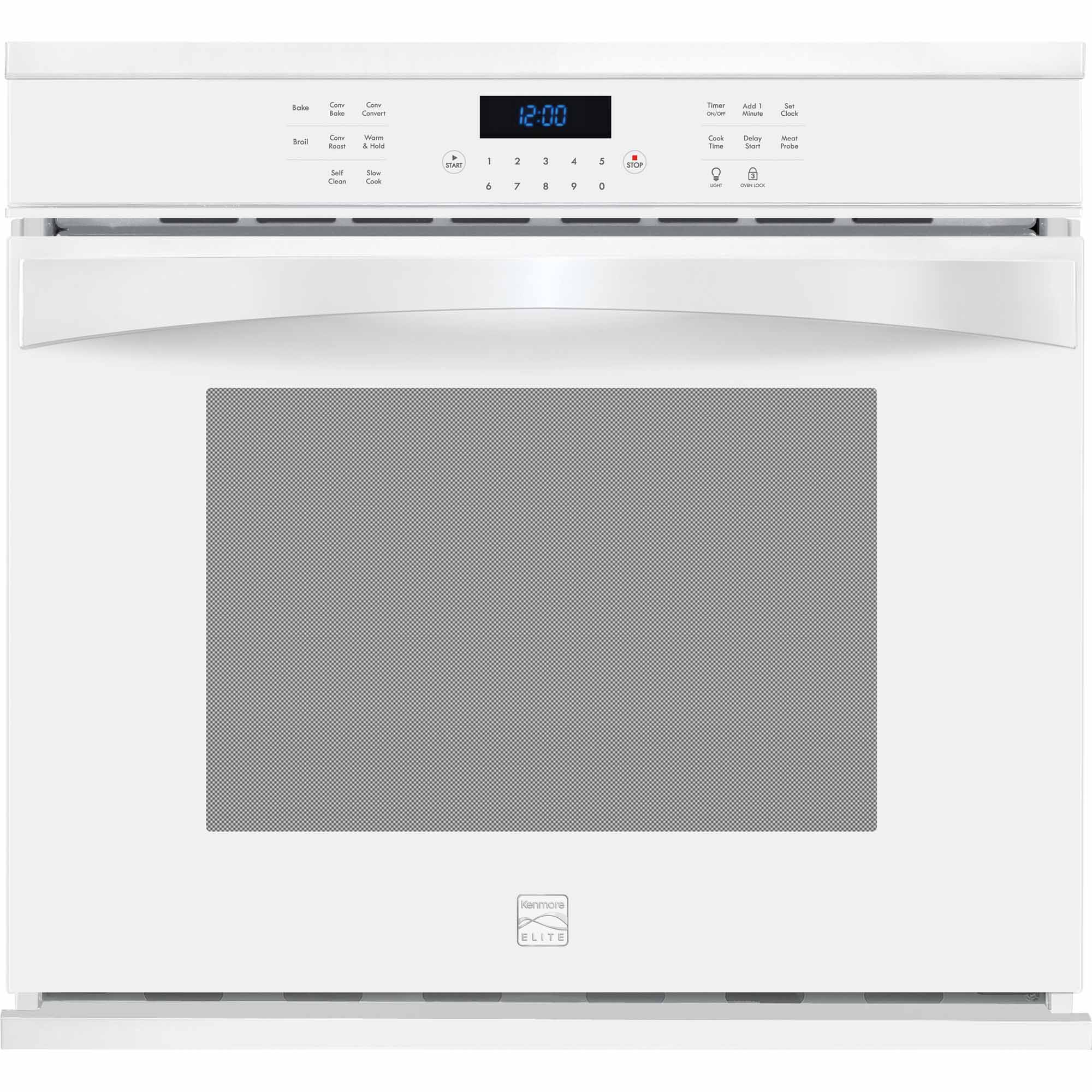 Kenmore Elite 48352 30 Electric Single Wall Oven - White