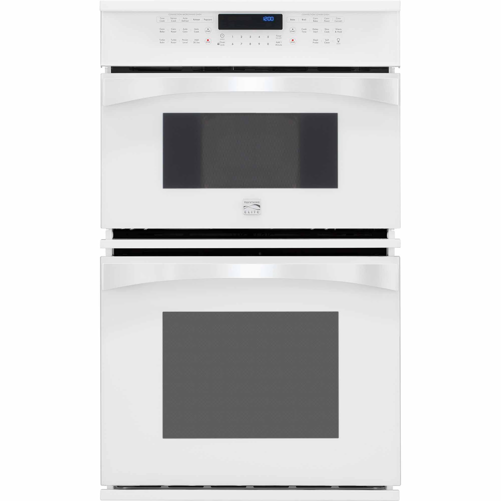 Kenmore Elite 48912 27 Electric Combination Oven - White