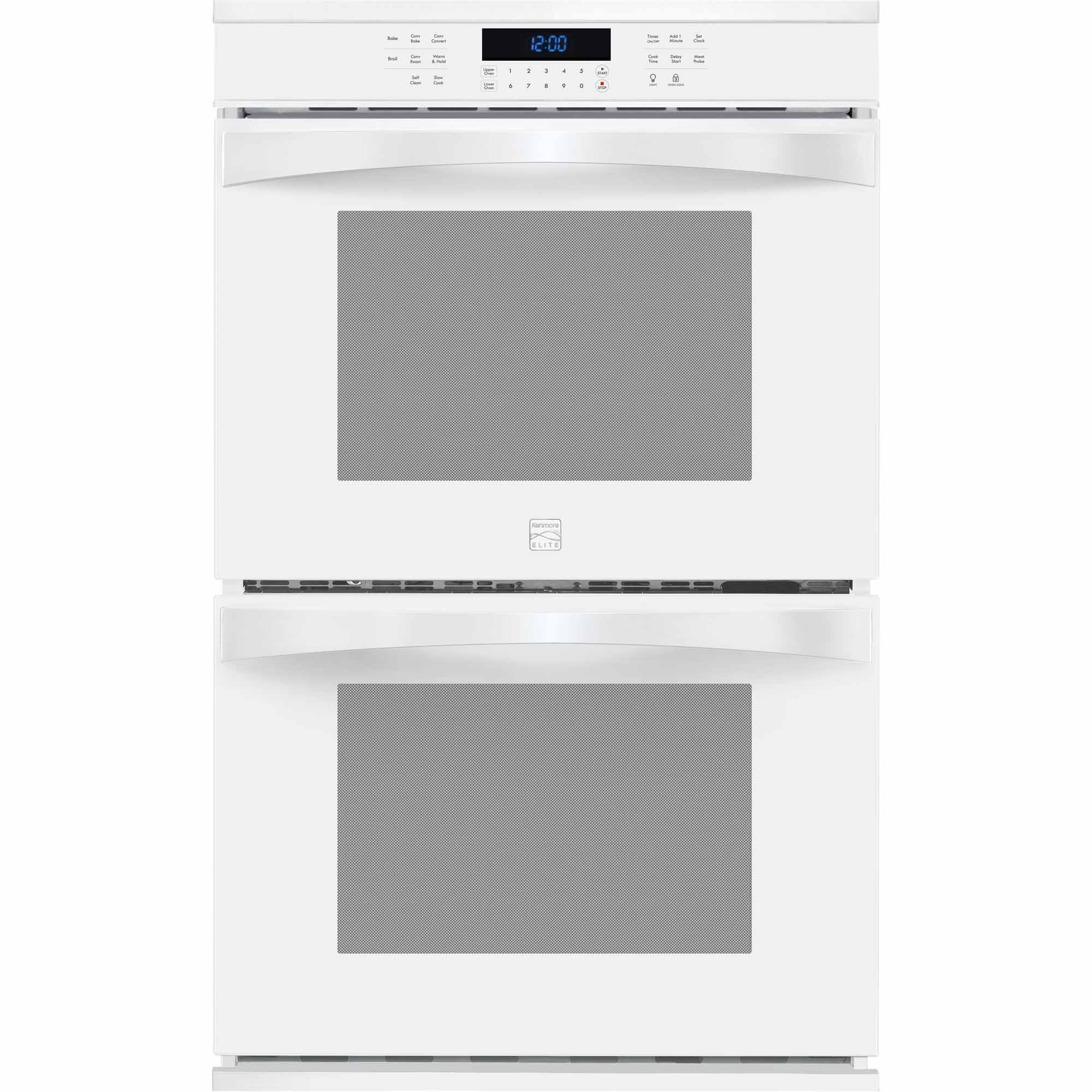 Kenmore Elite 48452 30 Electric Double Wall Oven - White