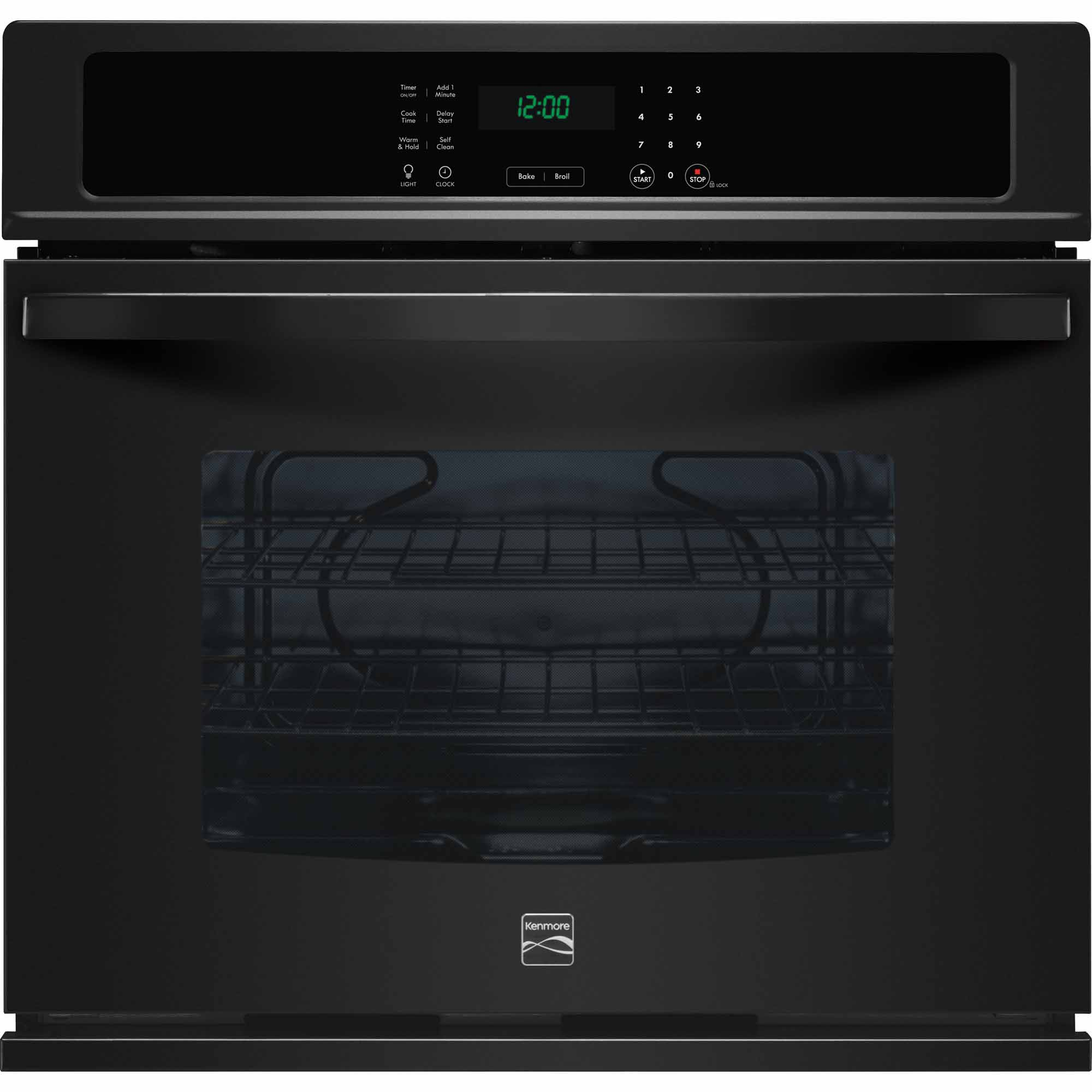 Kenmore 49429 30 Electric Self-Clean Single Wall Oven - Black
